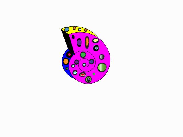 Neon Snail Snail Shell