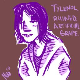 Purple: Tylenol Ruined it.