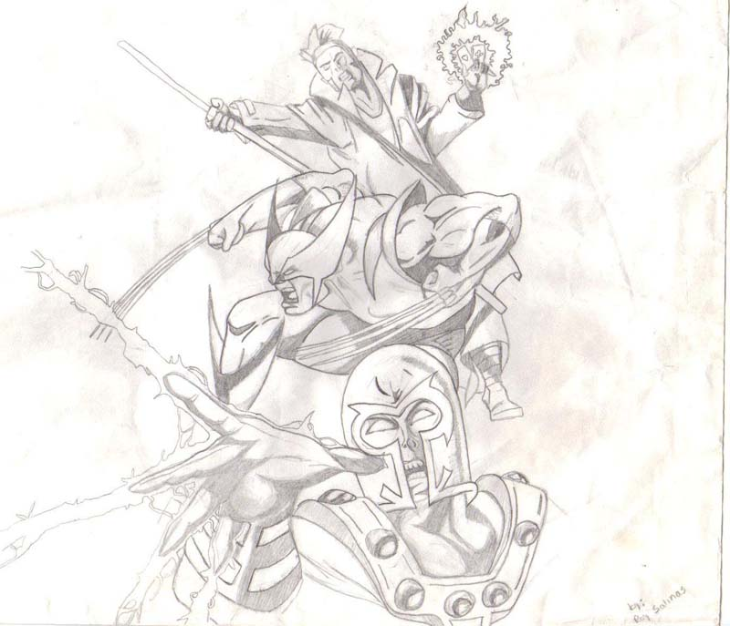 Gambit, Wolverine, Magneto