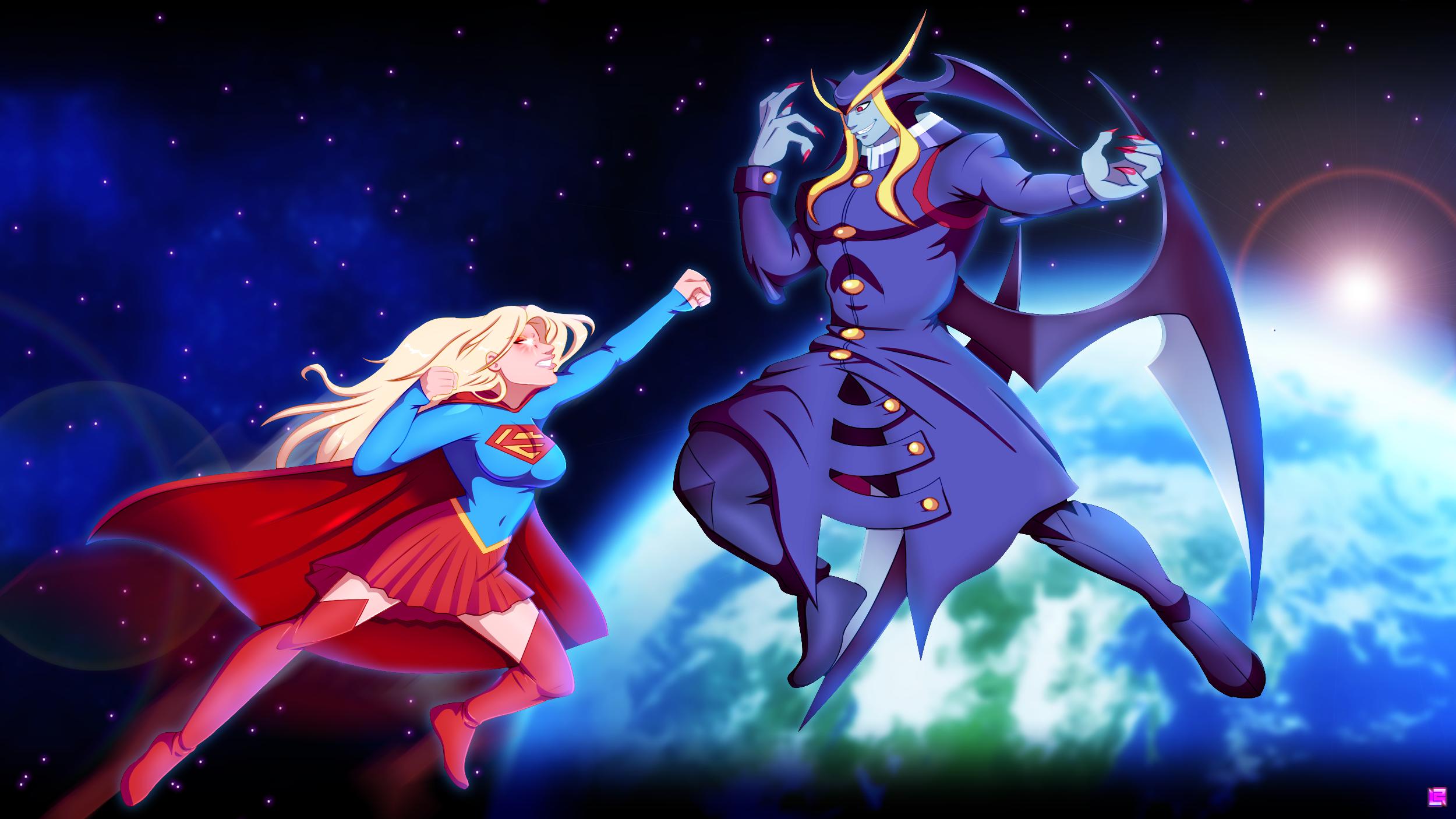 supergirl VS jedah