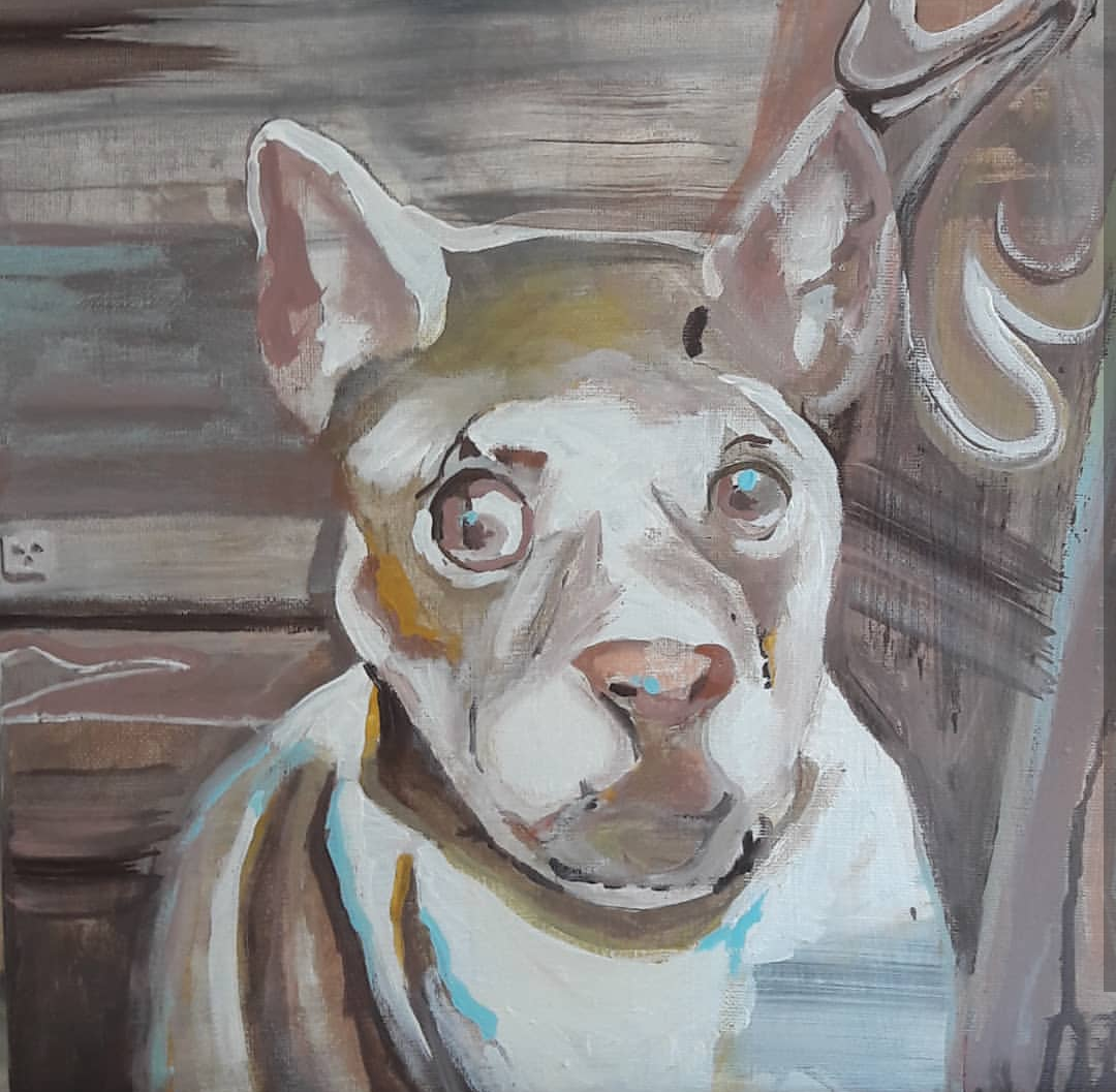 Dog inspired by artificial intelligence
