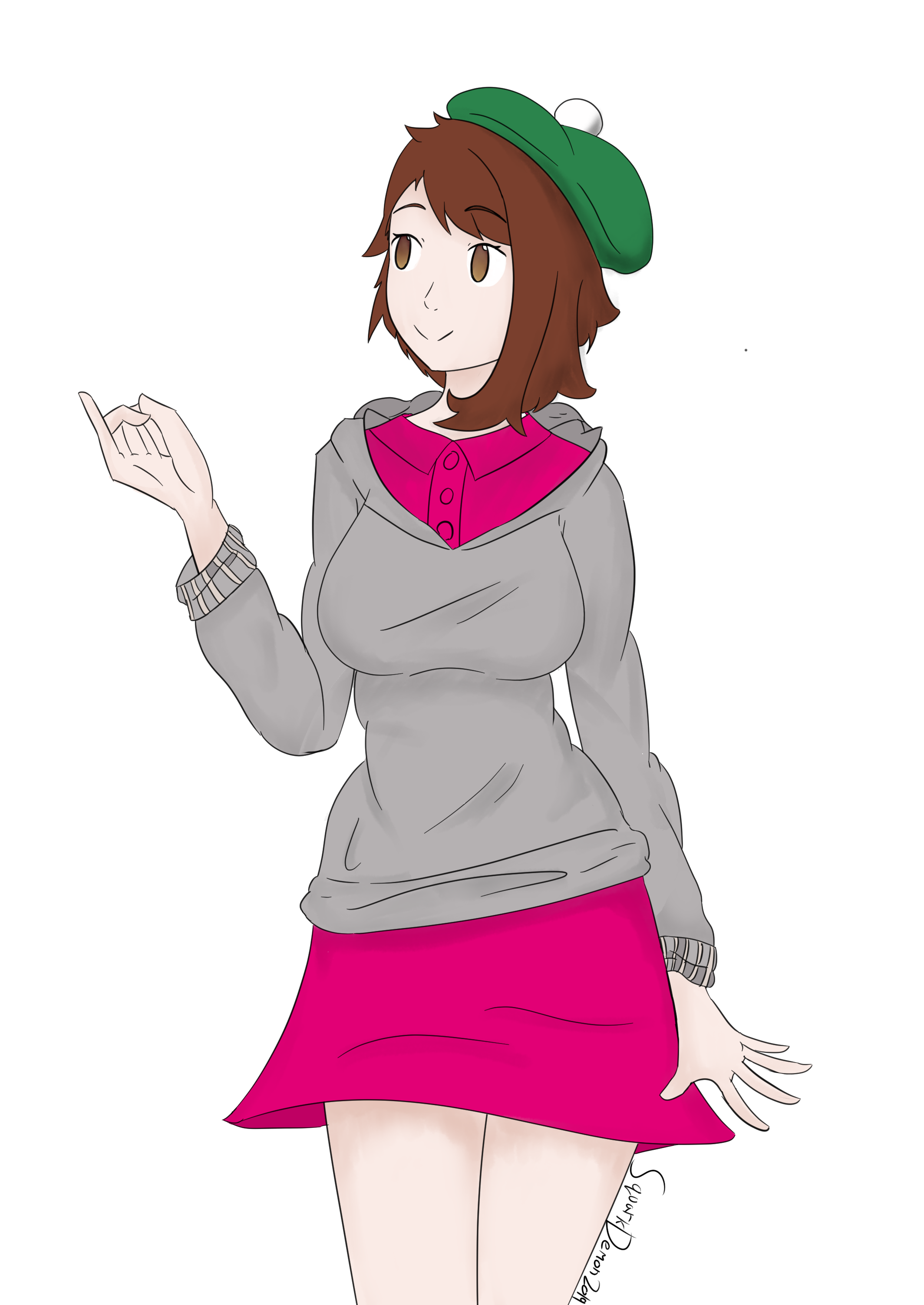 Female Trainer Pokemon Sword And Shield By Sqwarkdemon On Newgrounds