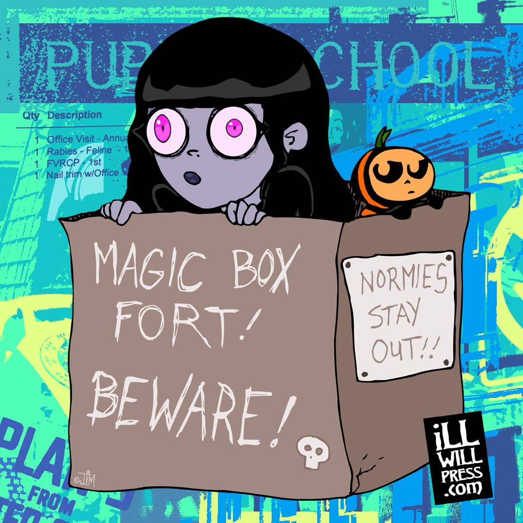 Box Fort Normies Stay Out! Pauline & Pum'Kin Guy (Color)