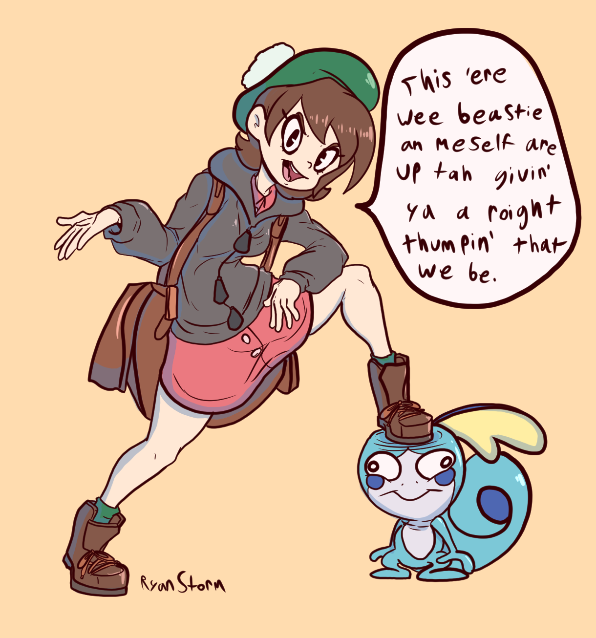 Pokemon Trainer and Her Wee Beastie