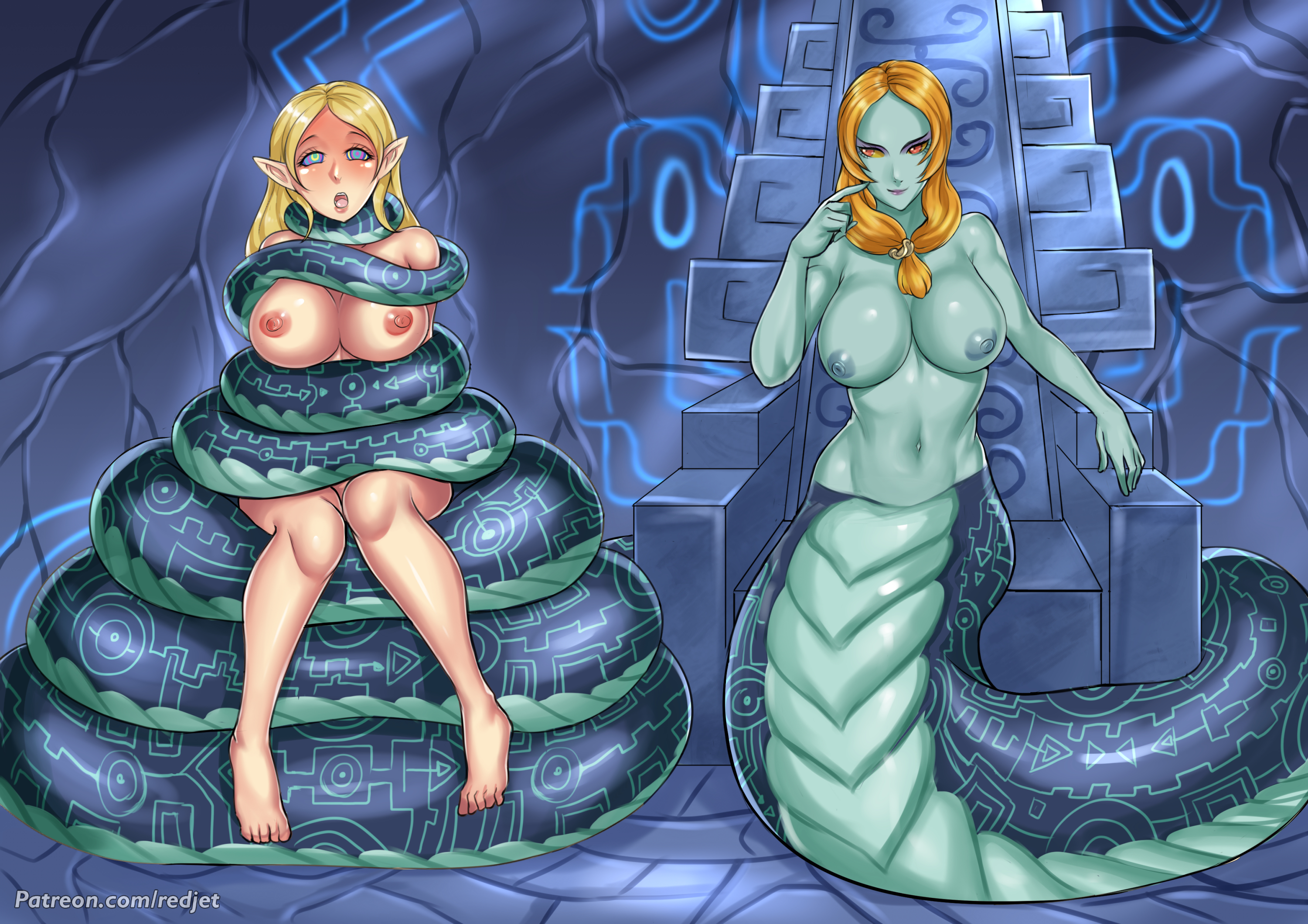 Lamia Midna and Zelda by Redjet
