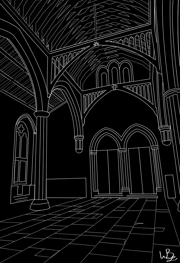 Hansel - Cathedral Line Art