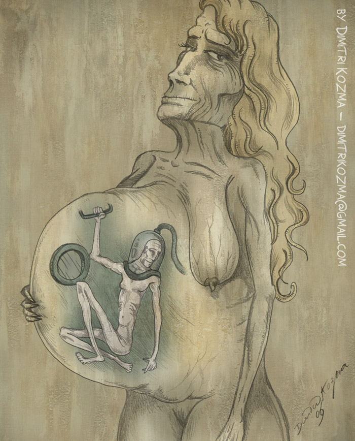 The Pregnancy - Surreal Painti