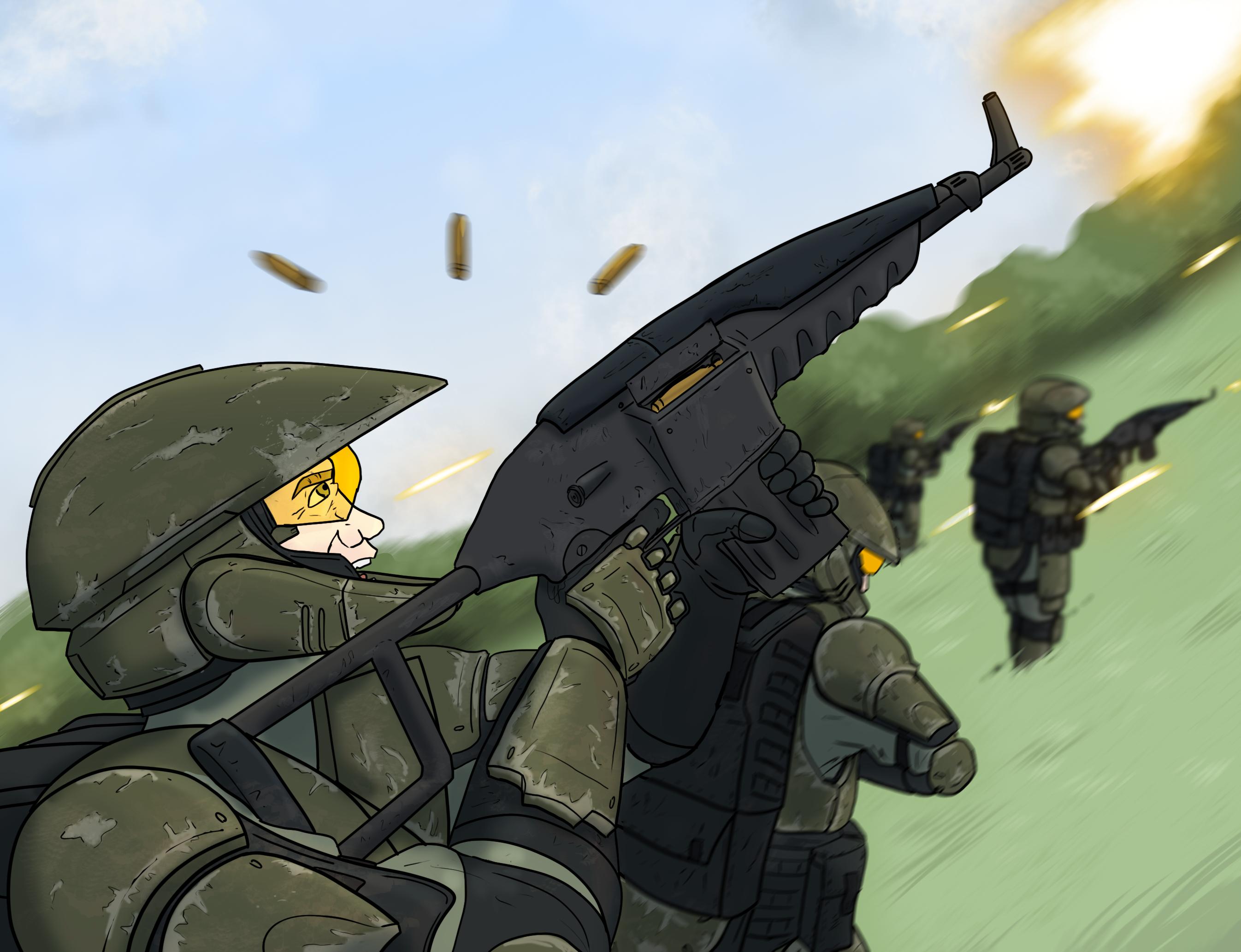 Ambushed on a hill