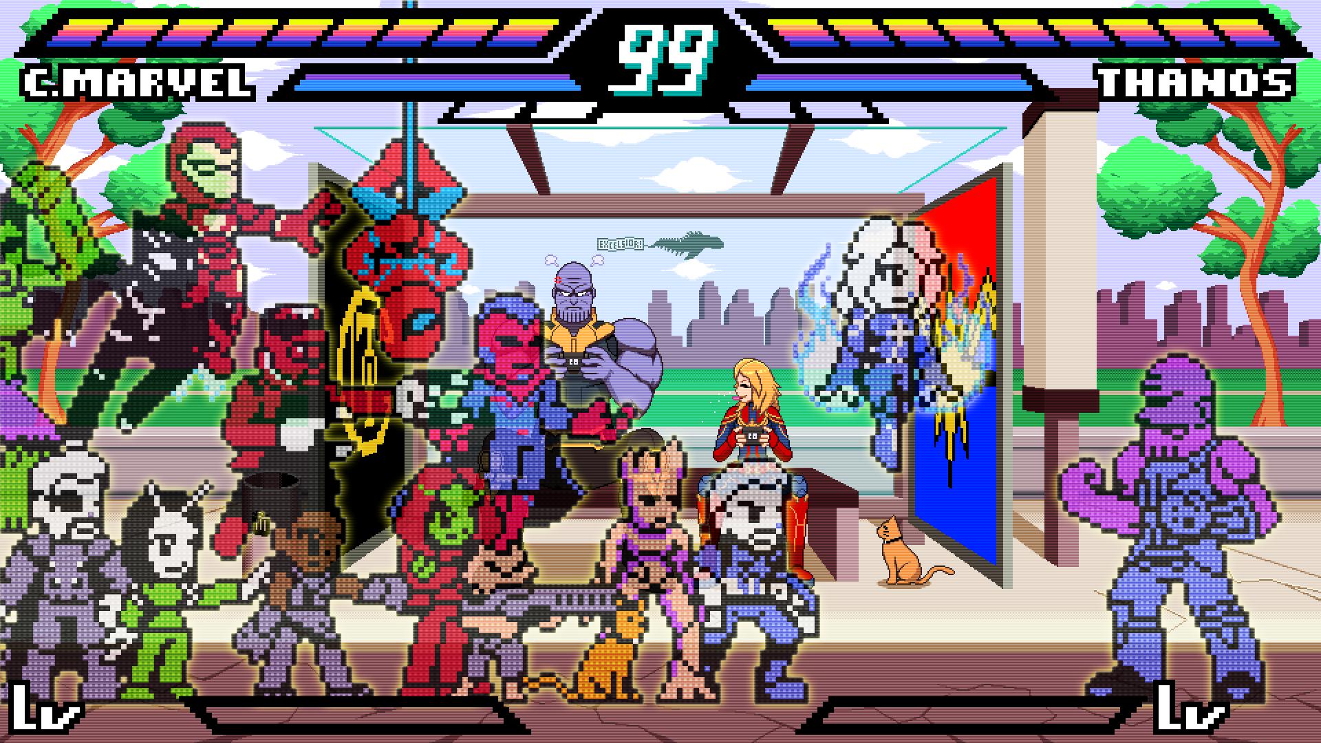 Some Marvel pixel art