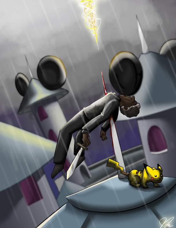 Pikachu vs Morgan Freeman