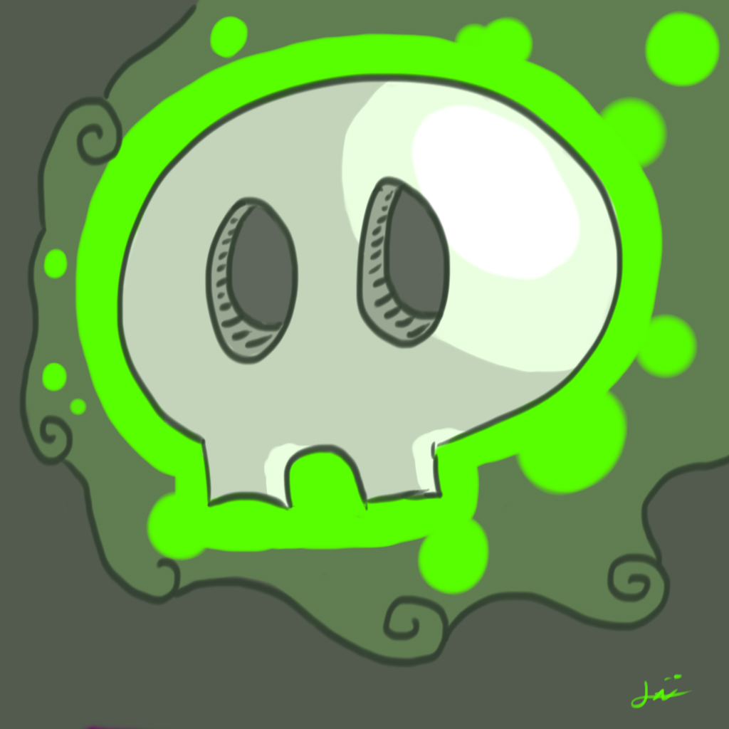 Floaty, the floating Skull