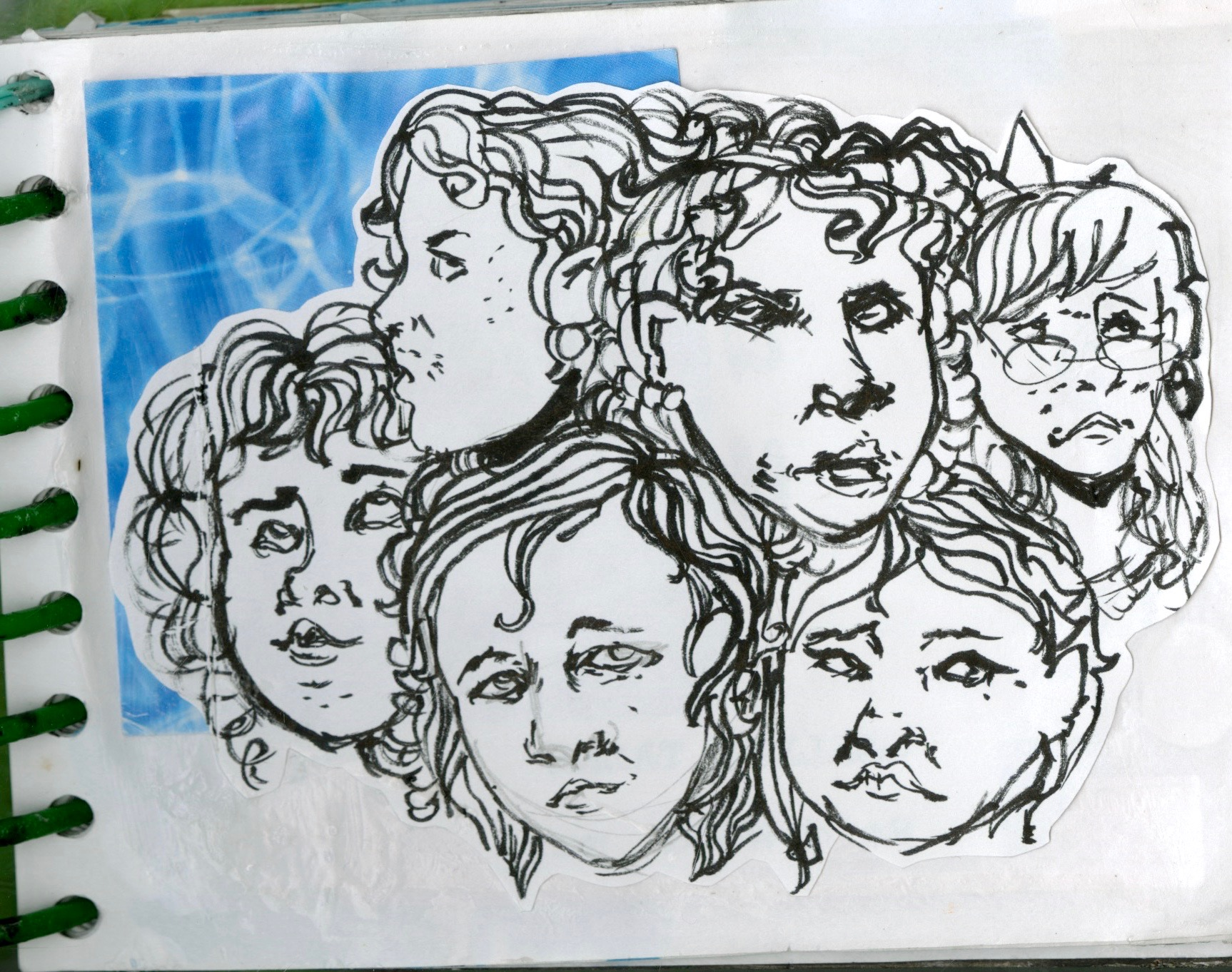 bad art dump 4 with scribbly faces, journal 30
