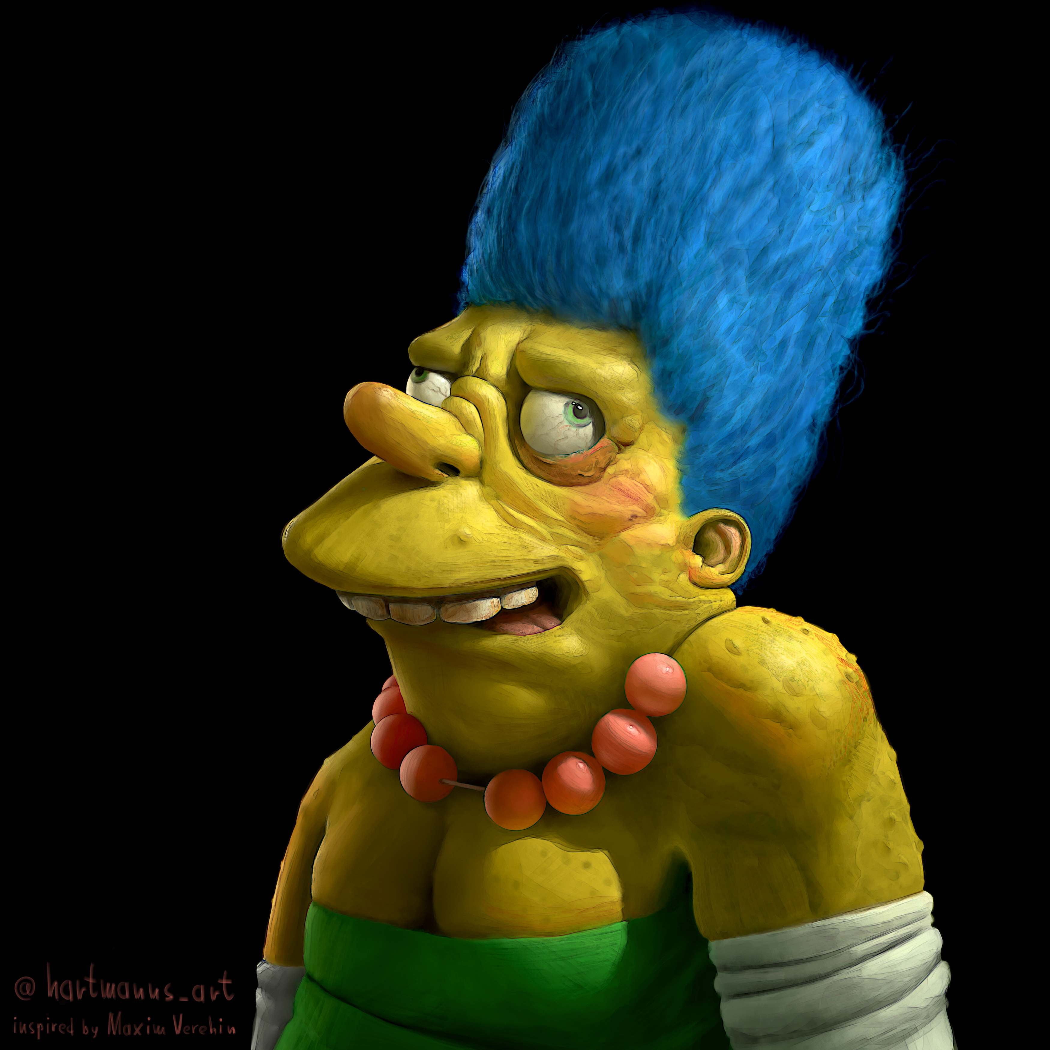 Barney Gumble as Marge