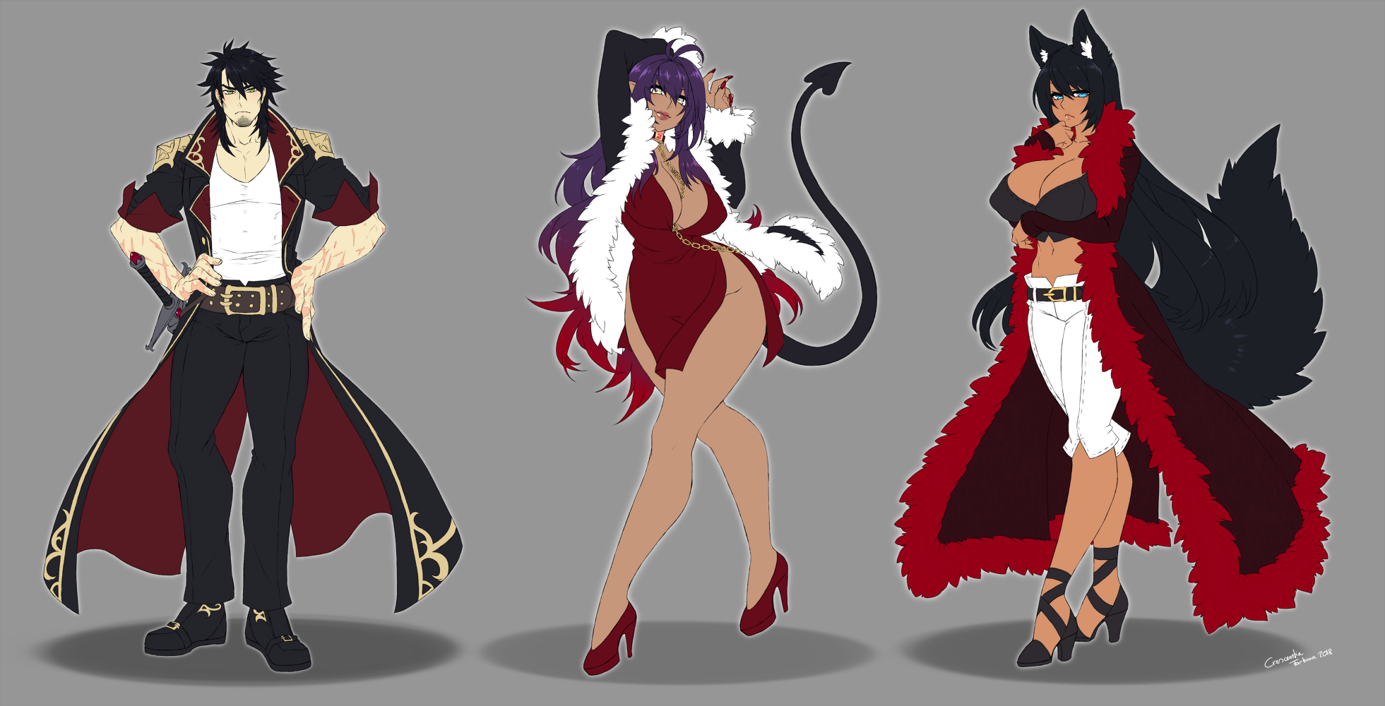 Zhuan character design commissions 2