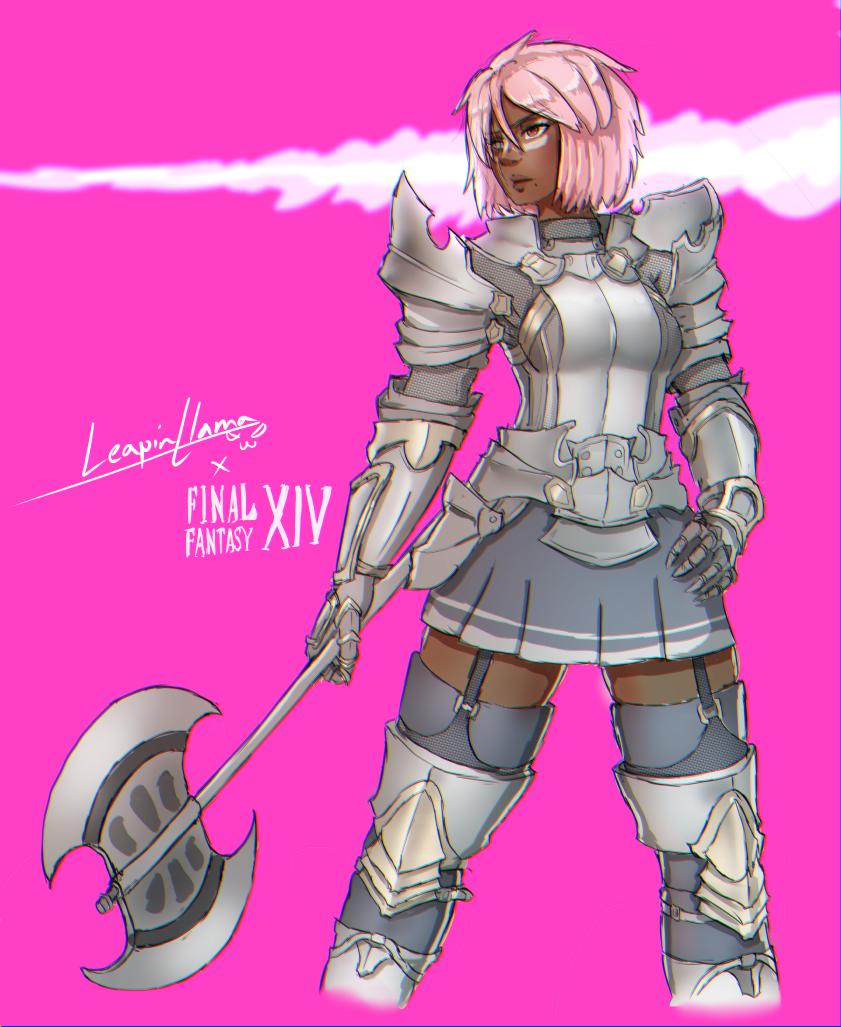FFXIV marauder girl