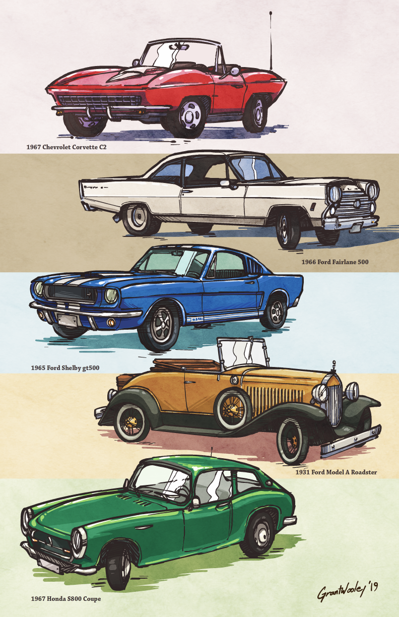 some cars.