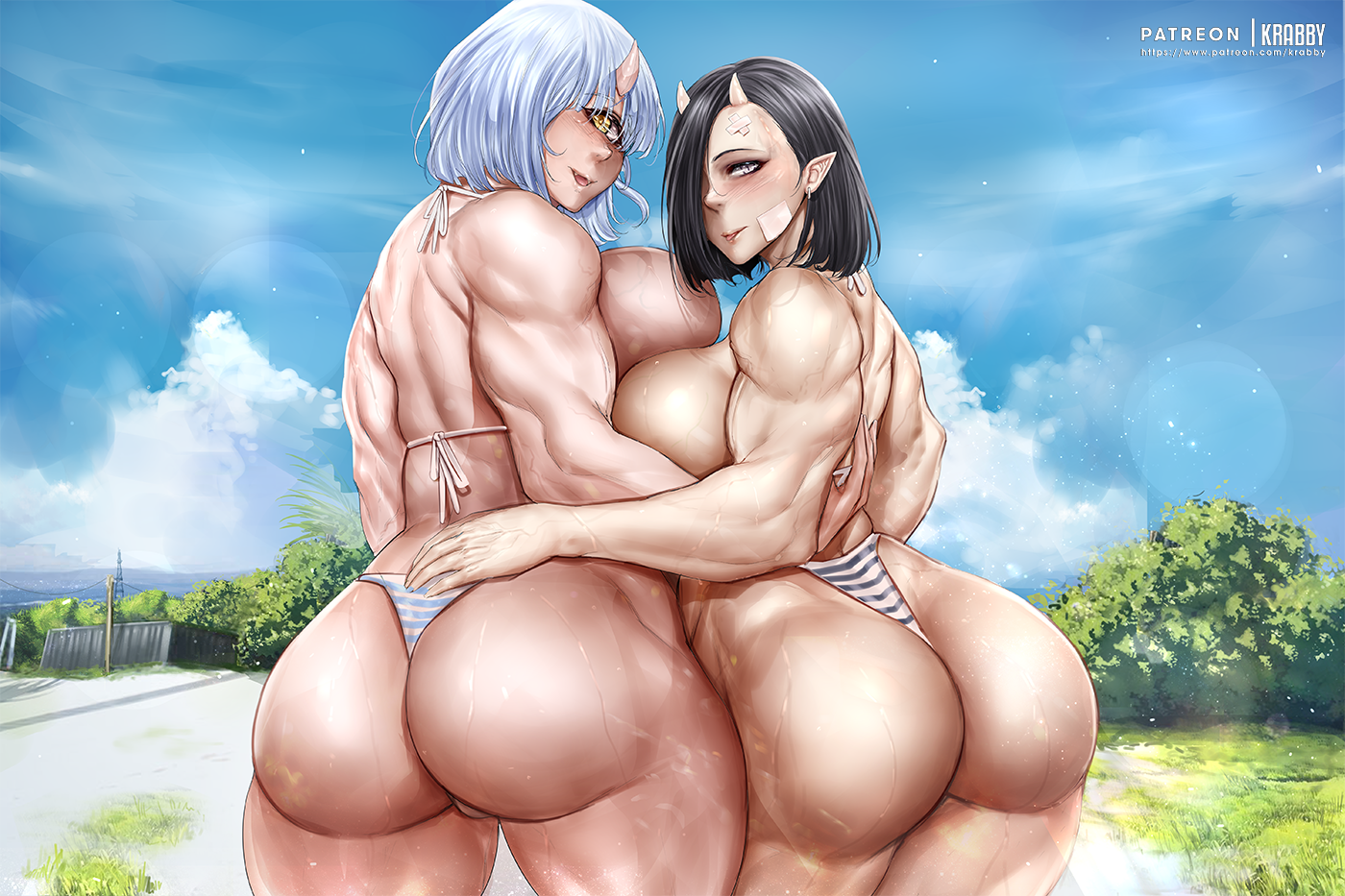 Oga and Hitomi