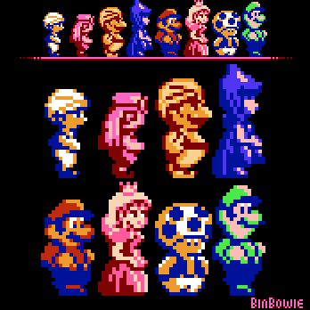 Super Mario Bros  2 (USA) and DDP reshade edit by BinBowie