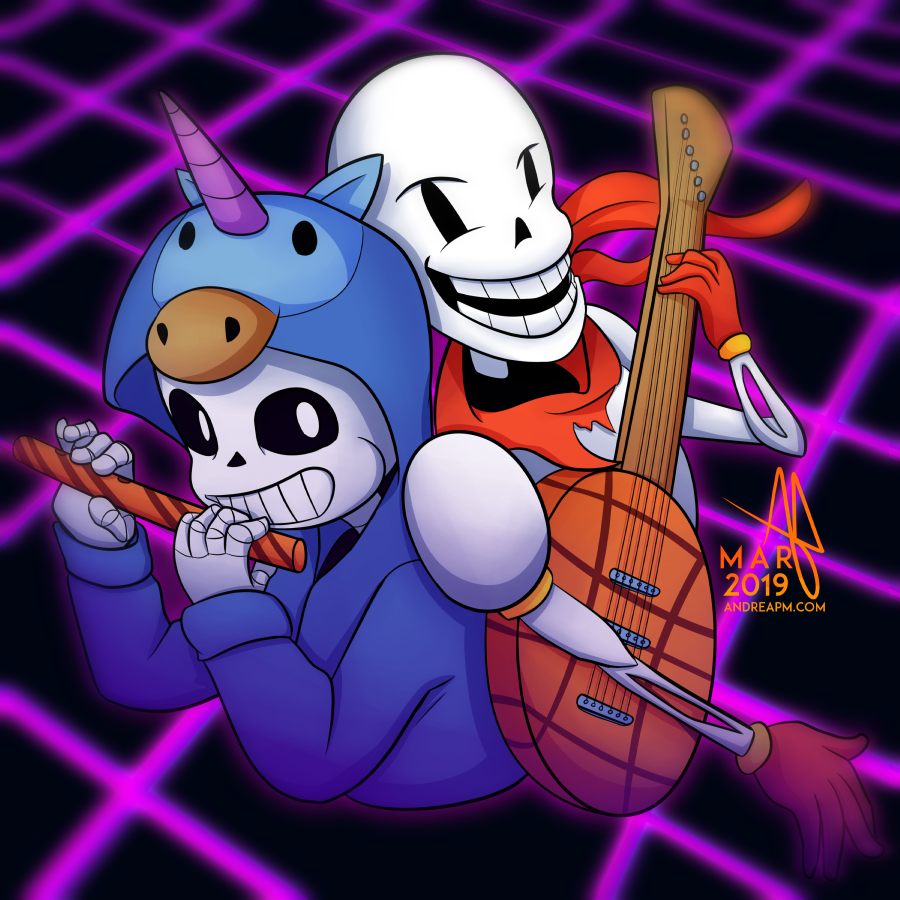 Gift) Sans & Papyrus by Andre-APM on Newgrounds