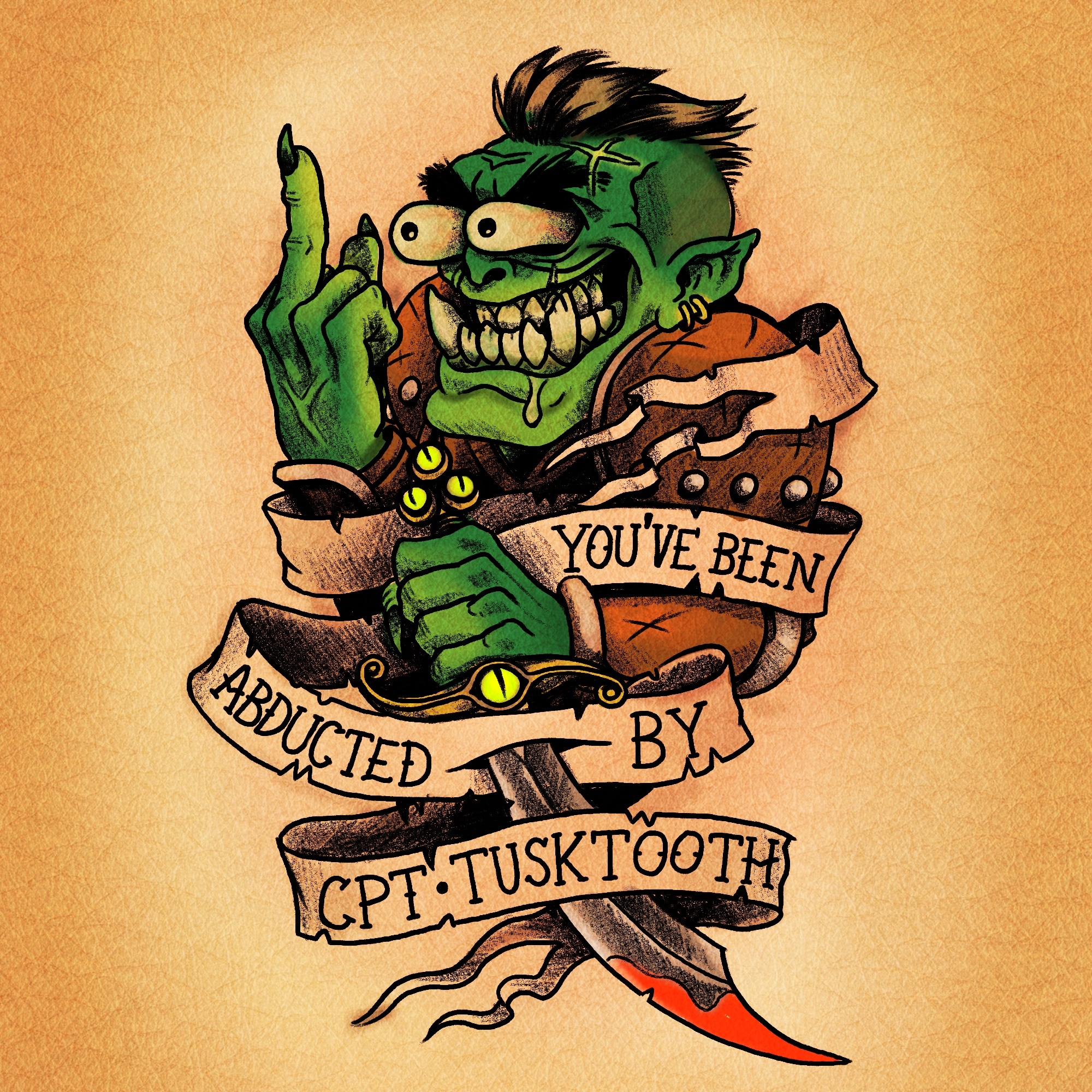 captain TuskTooth tattoo