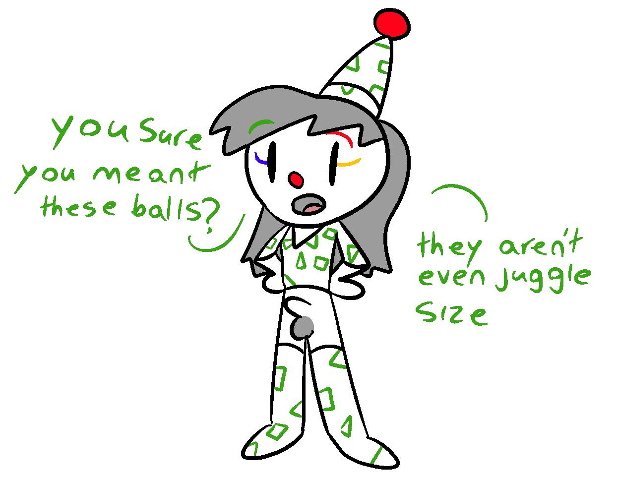 clown juggling