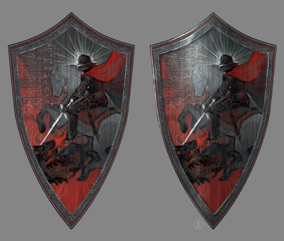 Designed and drew a shield for DnD