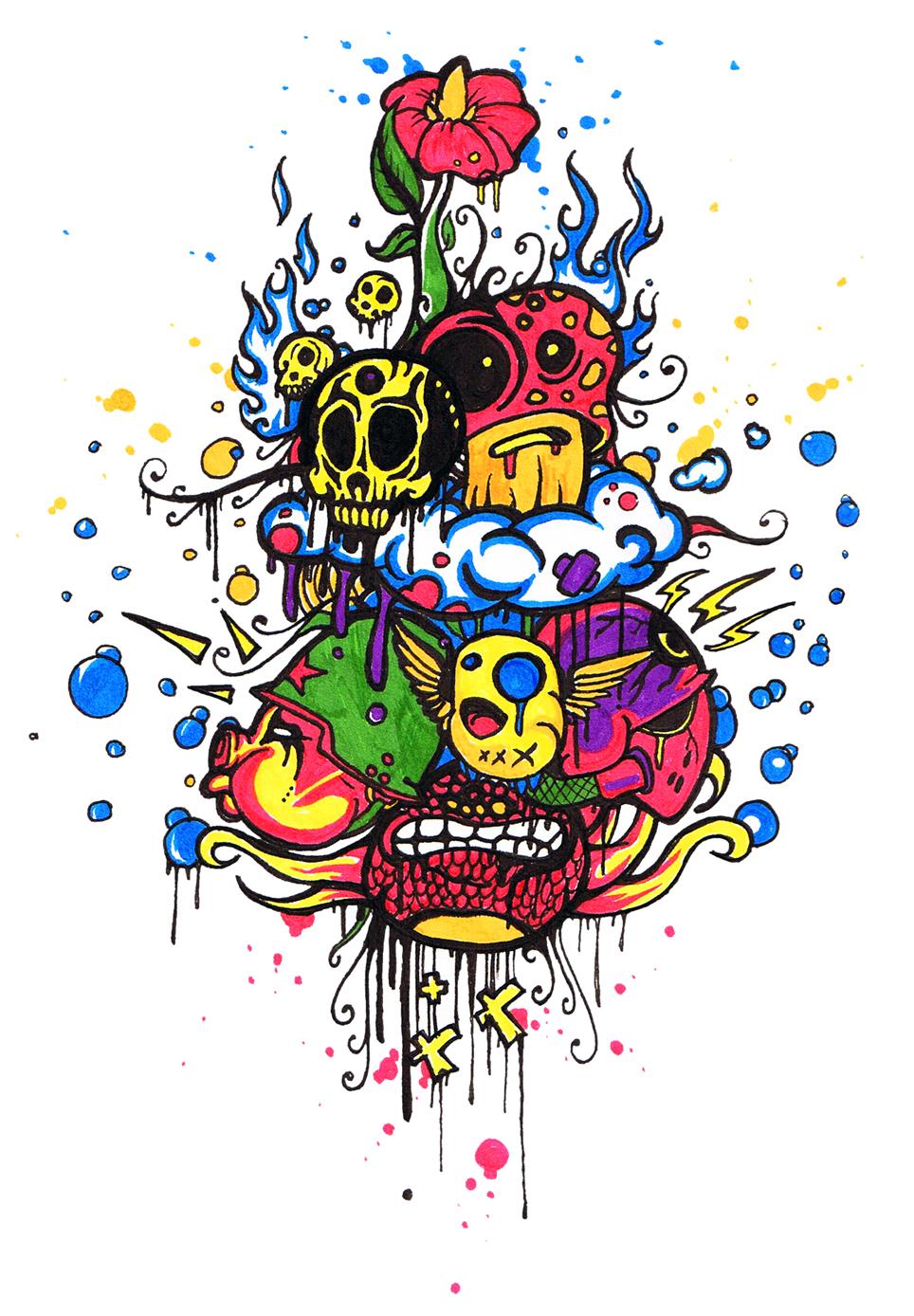 Freaky Creatures doodle