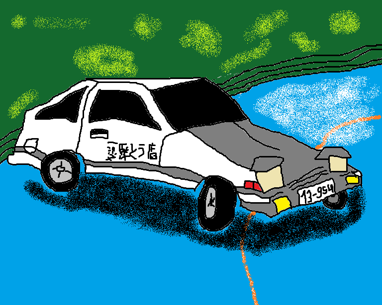 Old drawing of the AE86
