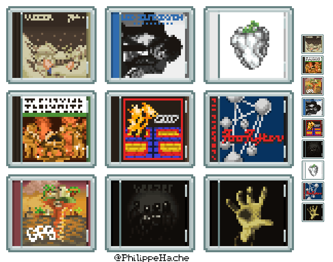 Pixel Art Album Covers 1