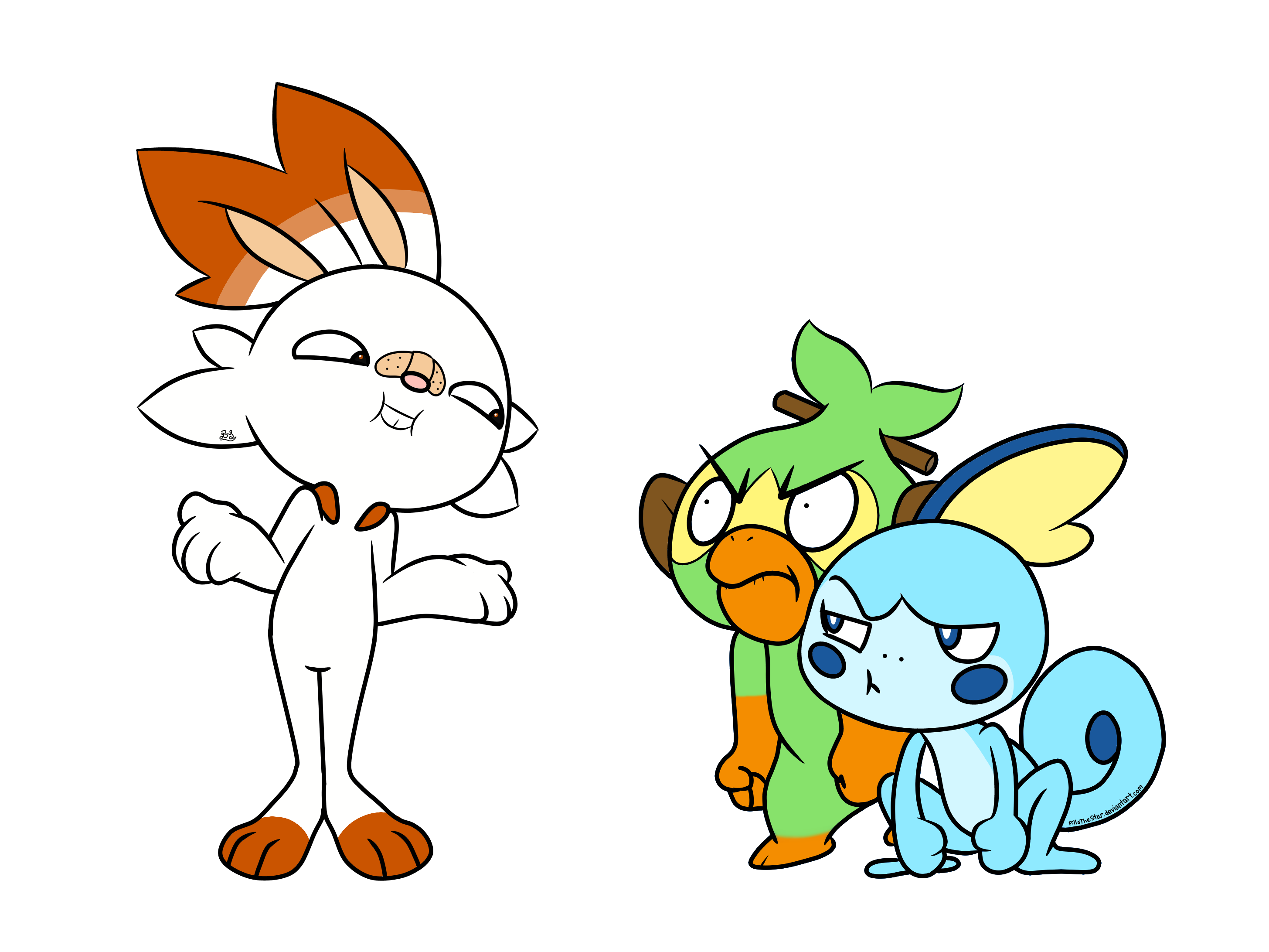 Pokemon Sword And Shield Starters By Pillothestar On Newgrounds