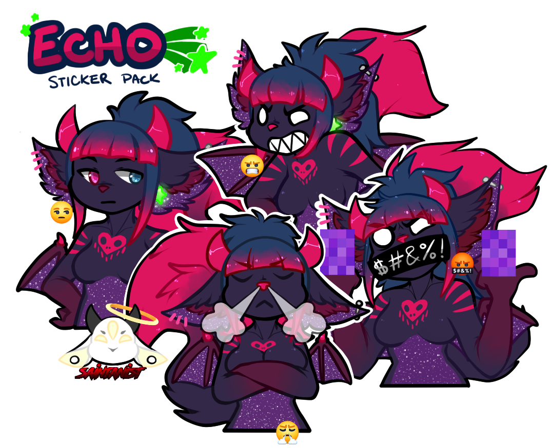 Angry Echo Sticker Pack