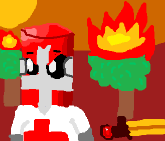 Red Castle Crasher Laptop Draw