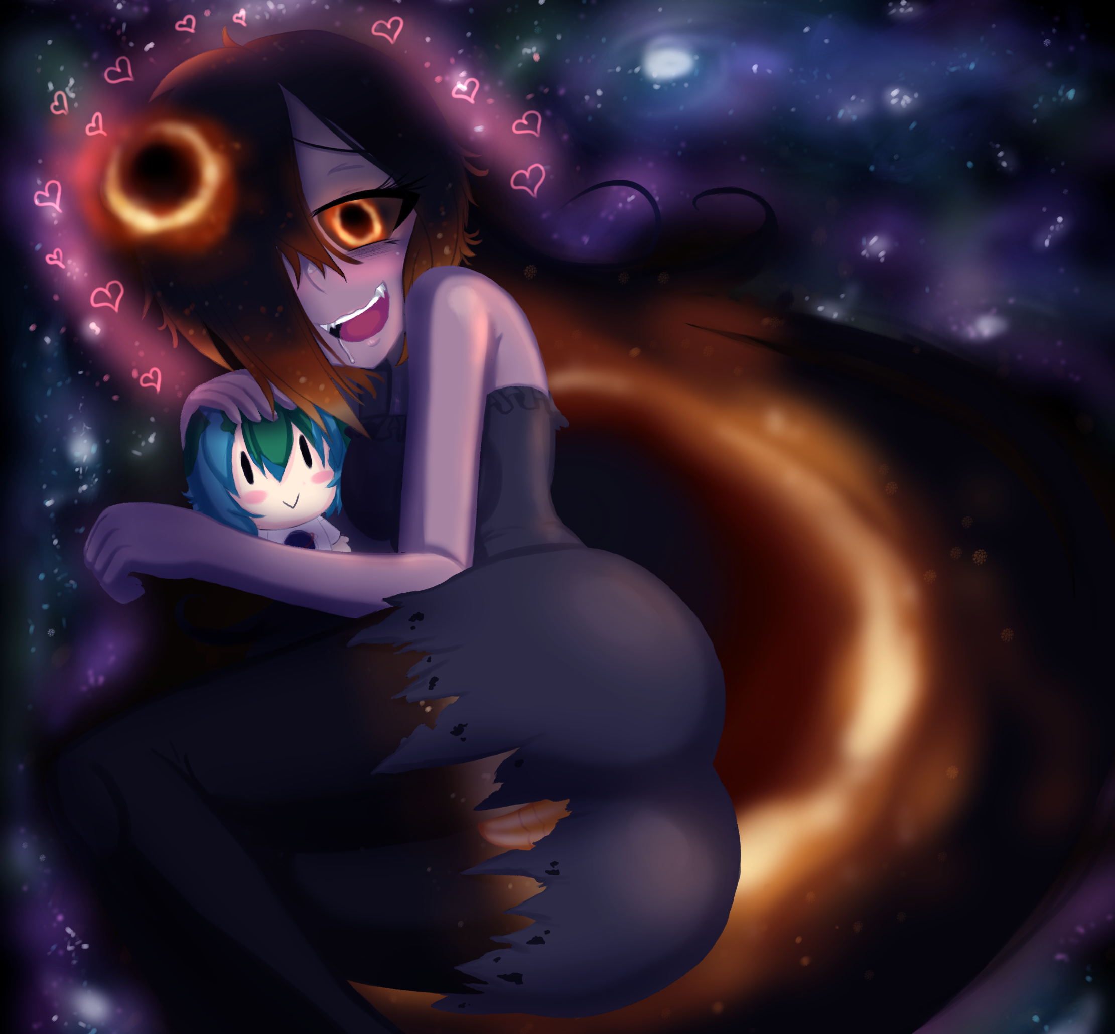 Blackhole-chan Snuggles by Undefined404 on Newgrounds