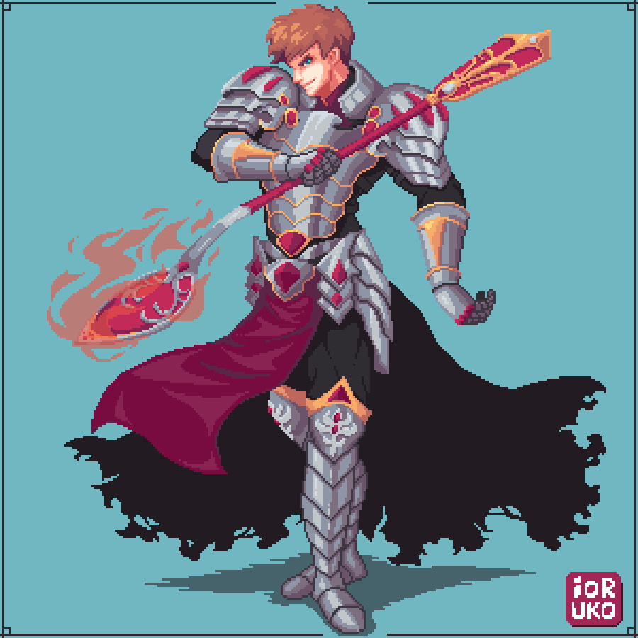 Paladin in shiny armor (commission)