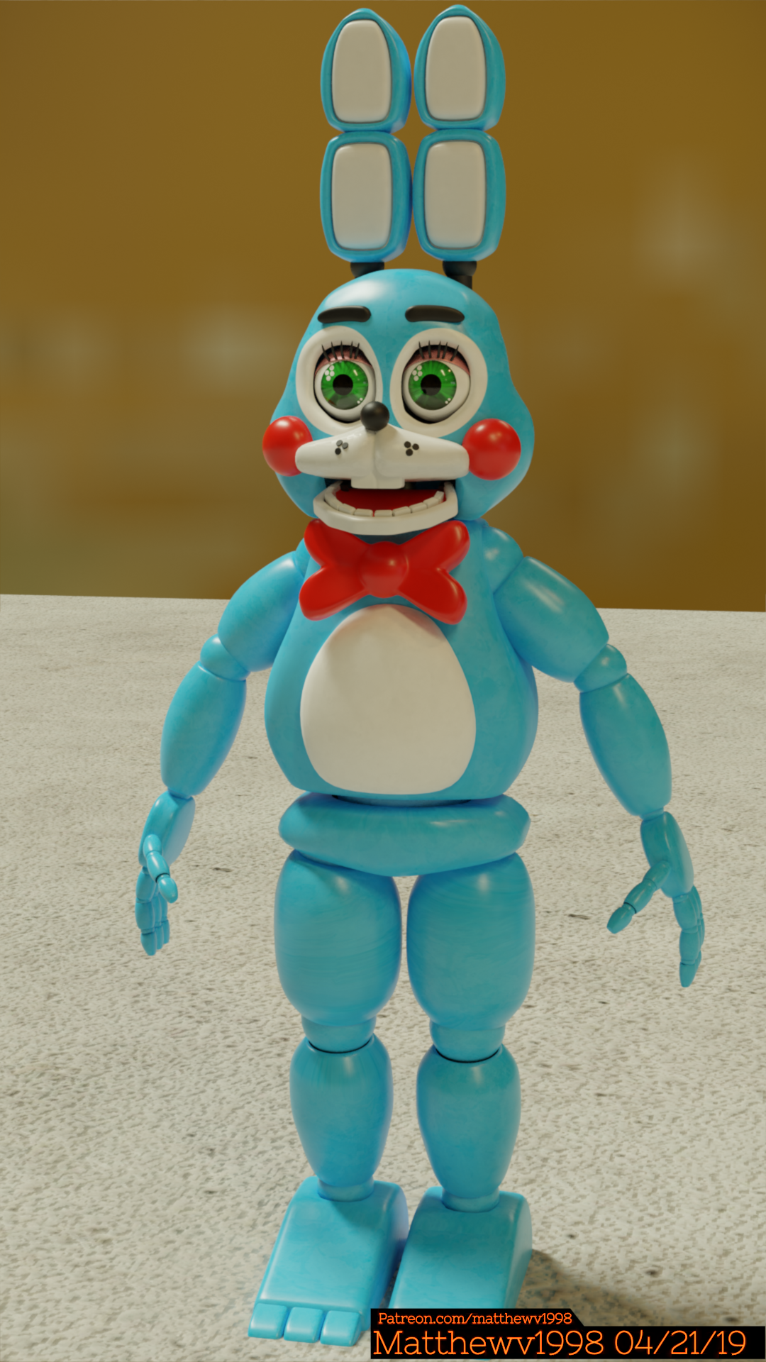Homegrown Toy Bonnie Model By Matthewv1998 On Newgrounds