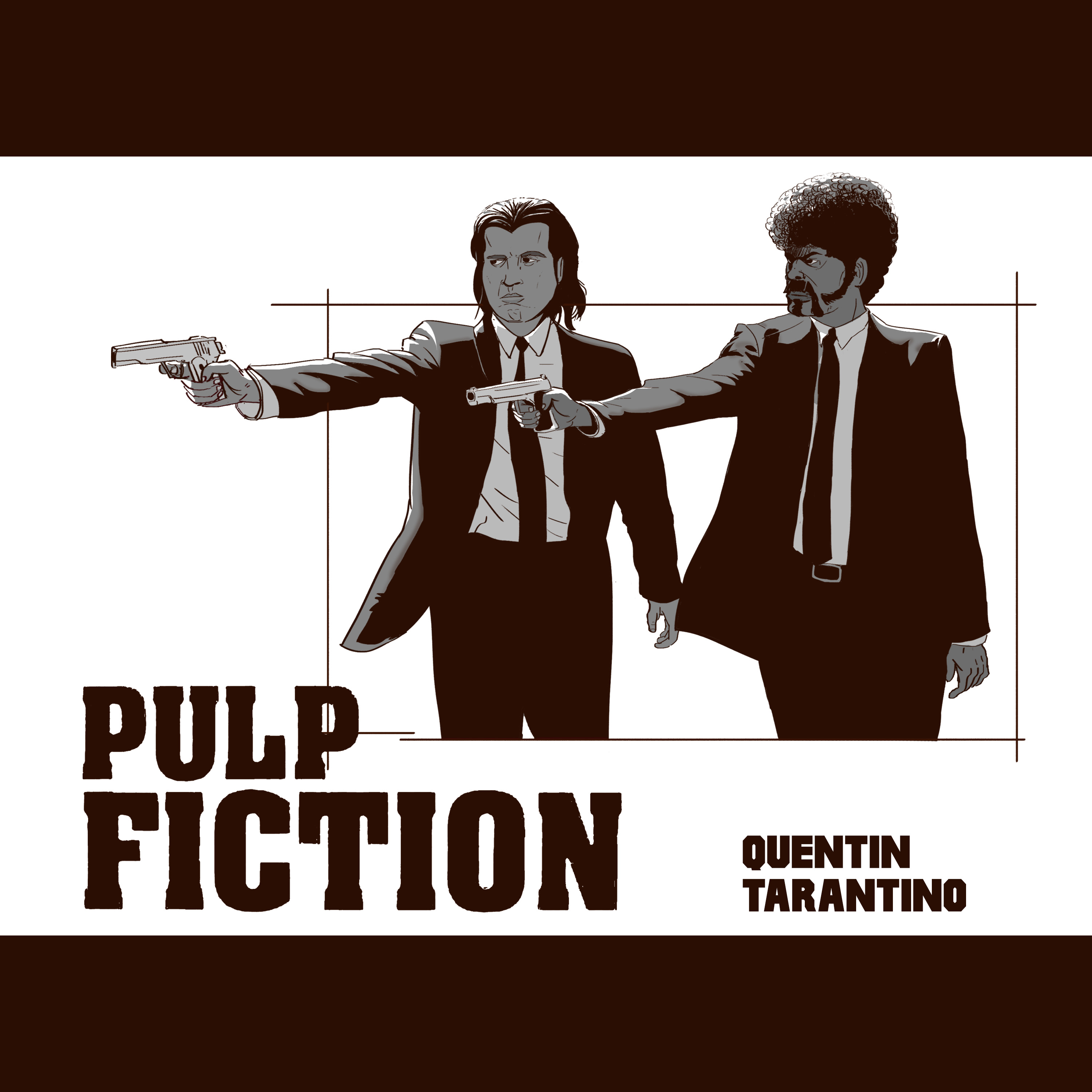 Pulp Fiction quick sketch.