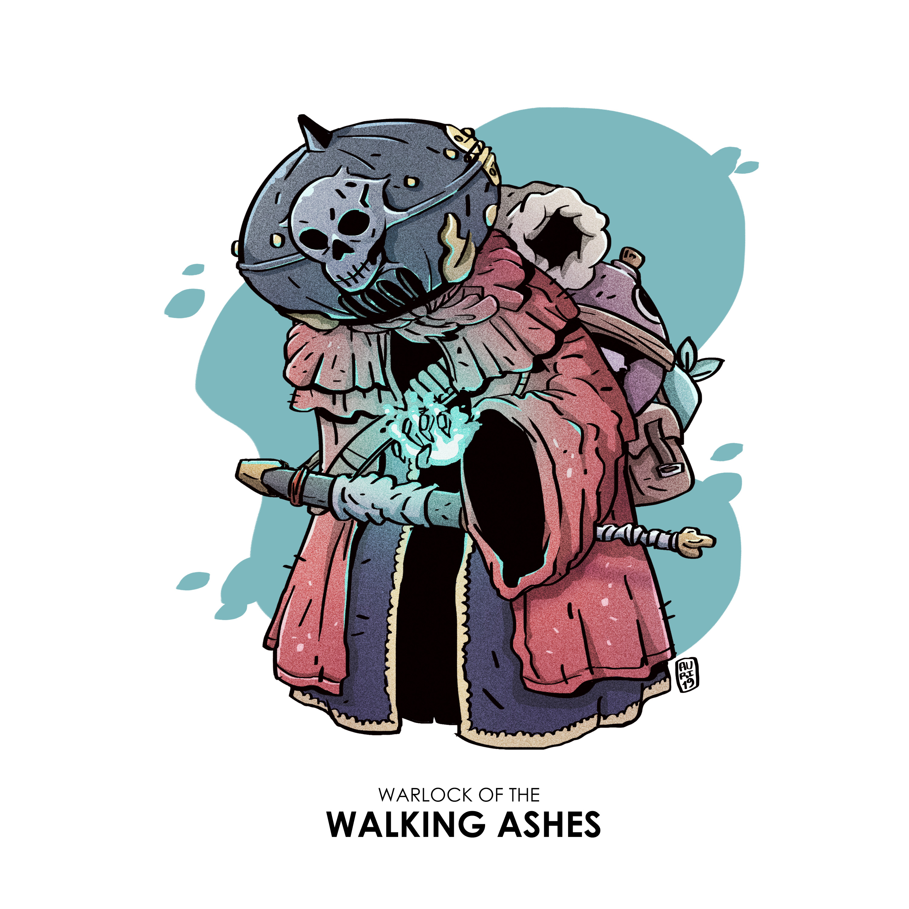 Warlock of the walking ashes (Draw this in your Style)