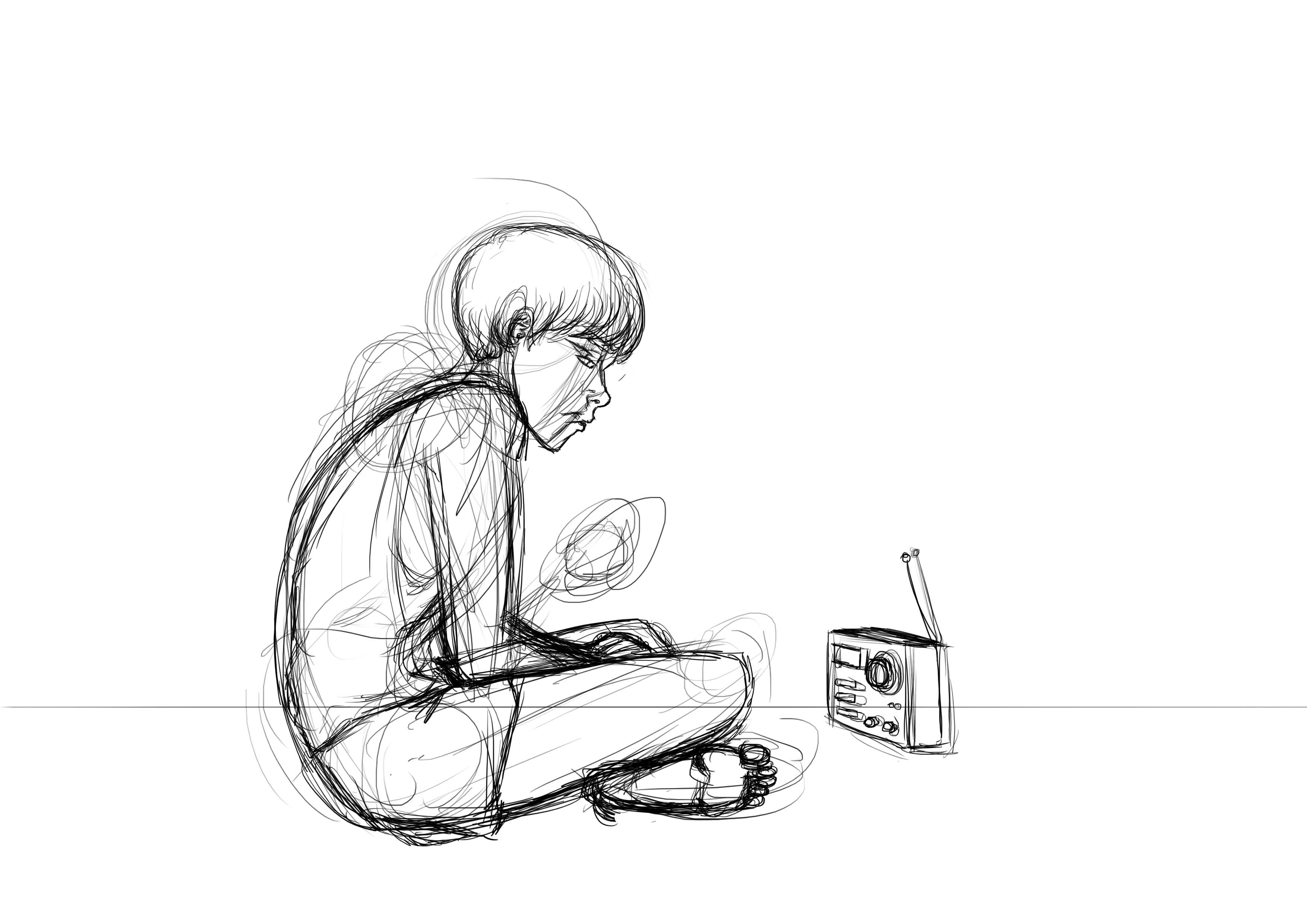 Boy alone in cave rough by alphain on newgrounds