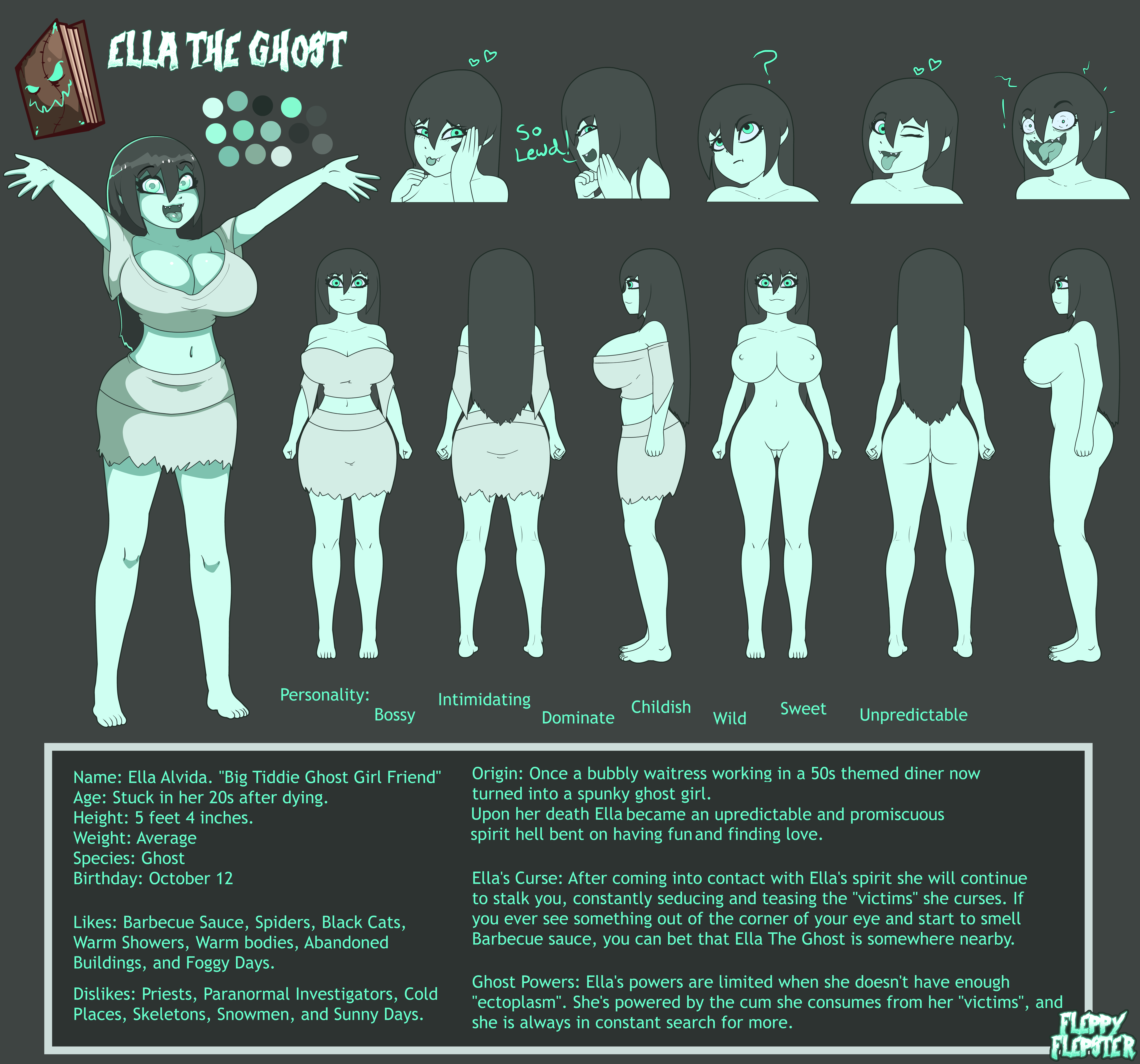 Ella The Ghost Character Sheet 2019