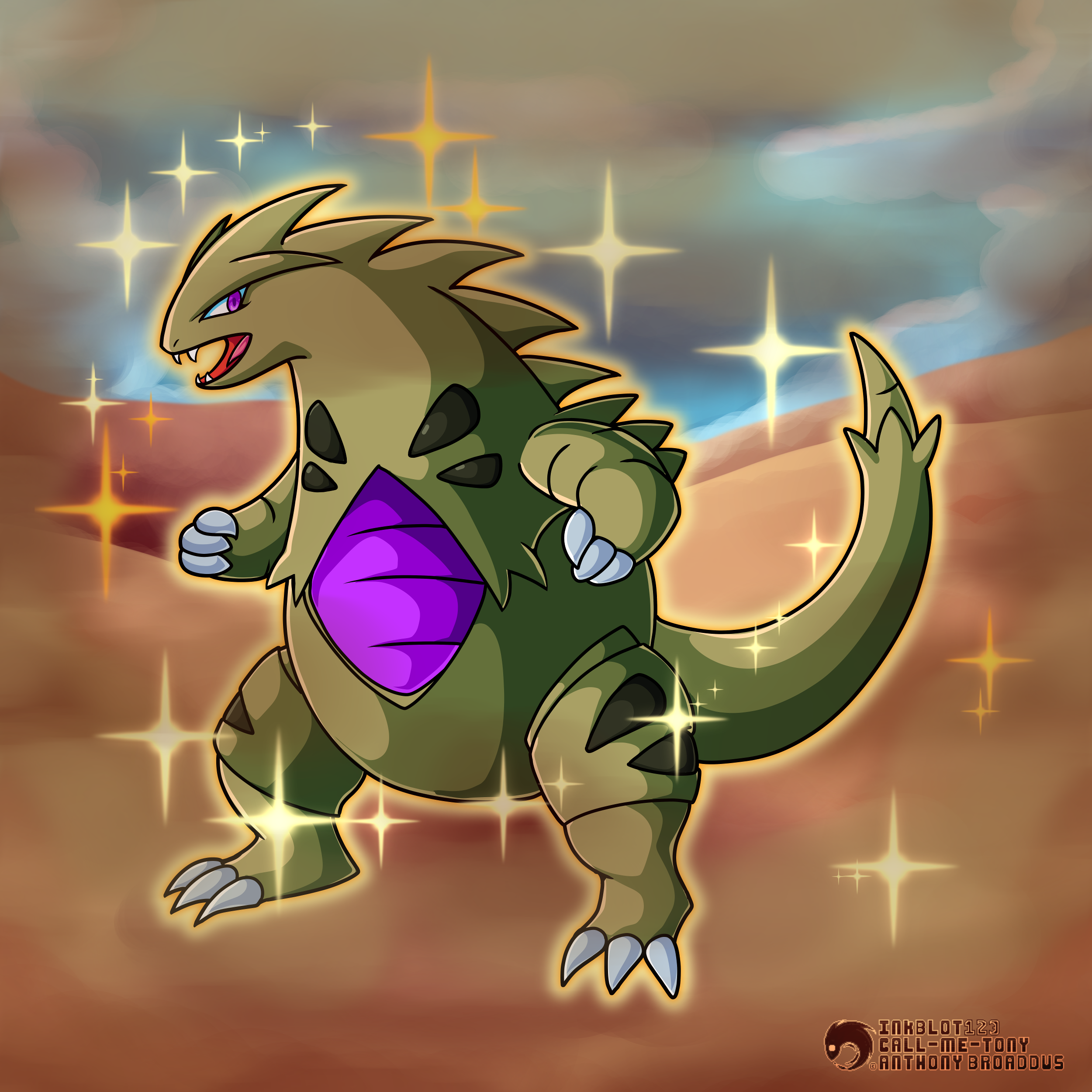 #248 - The Armor Pokemon - Tyranitar (Shiny) by ...