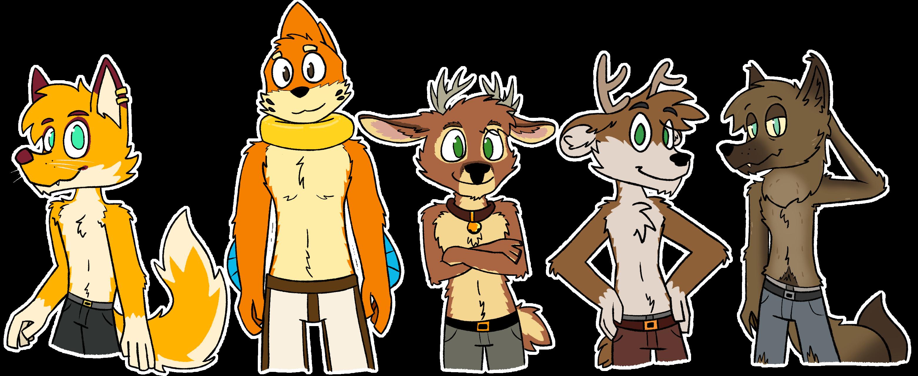 5 cute shirtless bois