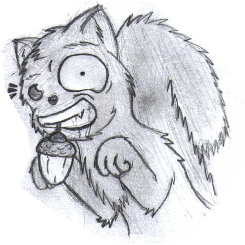The evil squirrel