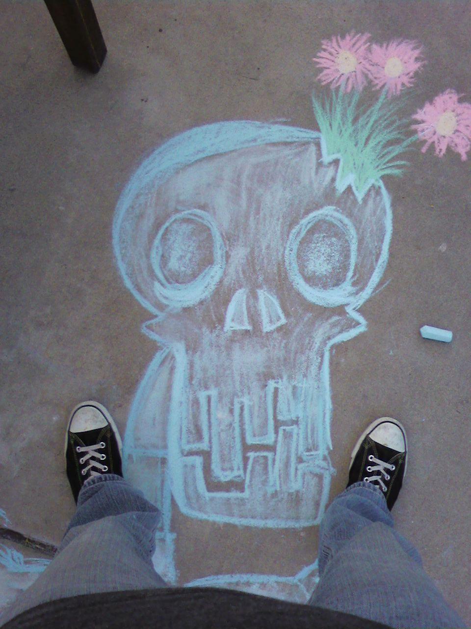 Chalk Skeleton
