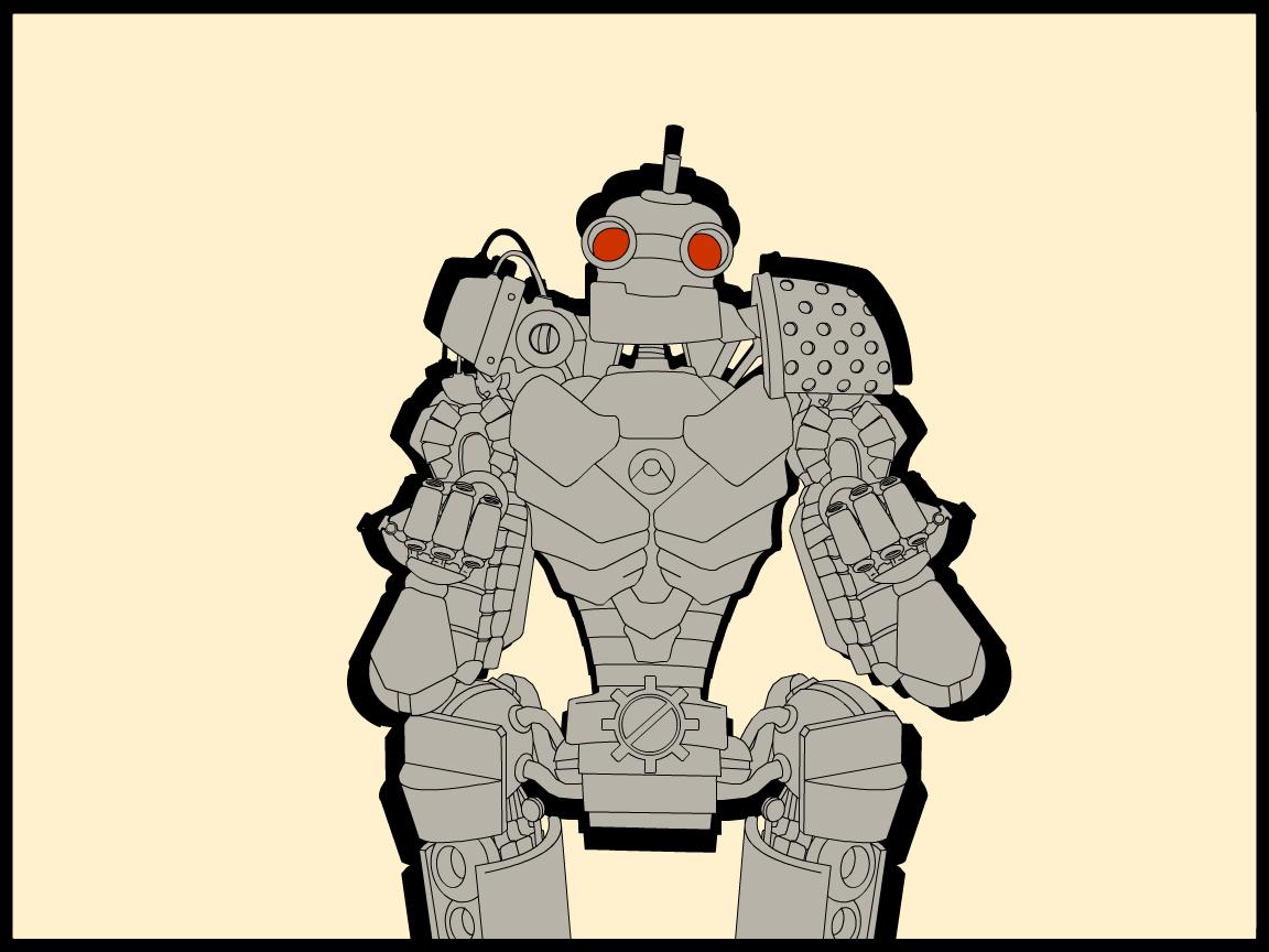 Comic Style Robot