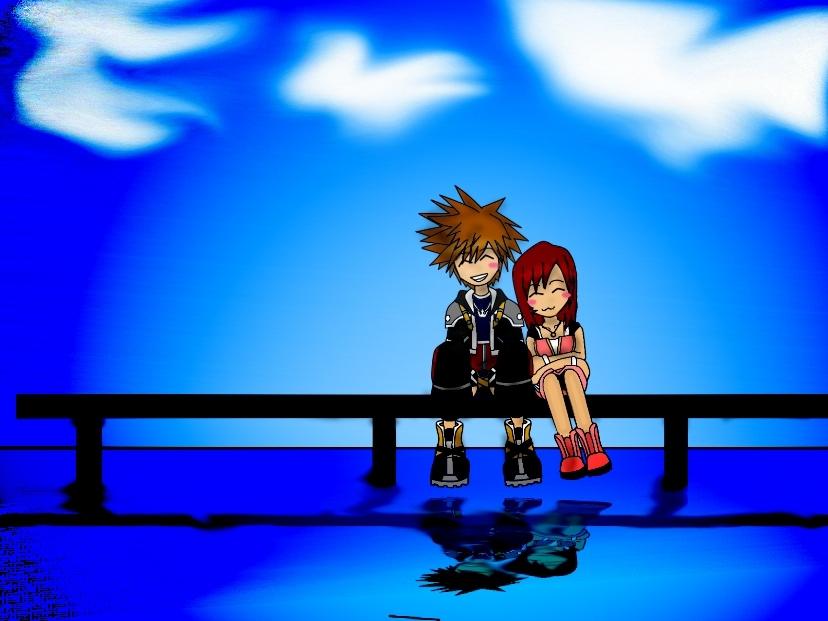 Kingdom Hearts-Sora & Kairi