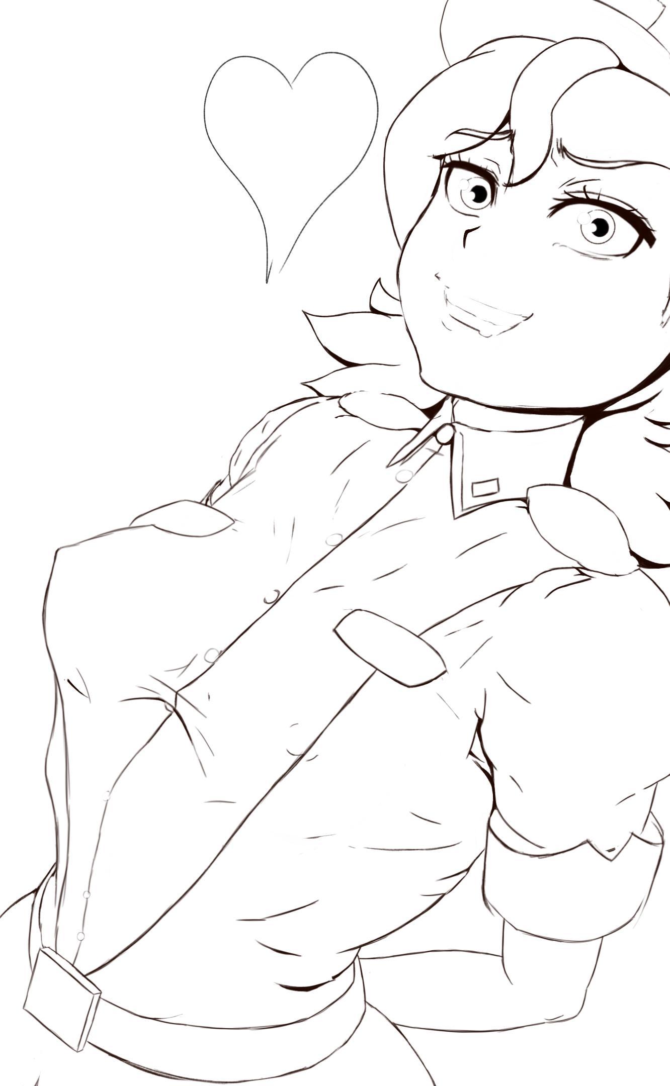 Officer Jenny (Line Art, SFW)