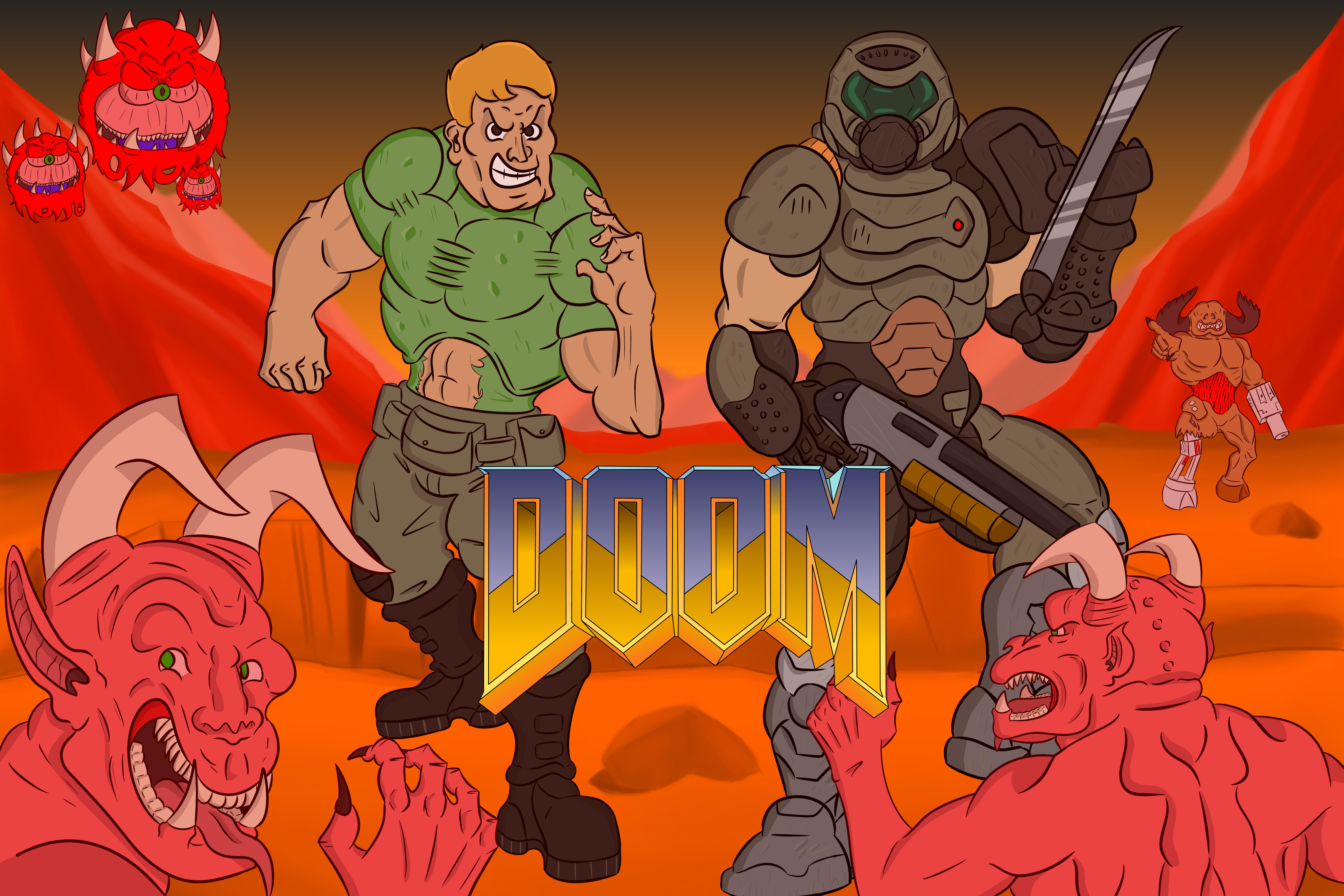Doom Guy And Doom Slayer By Sirdoubled On Newgrounds