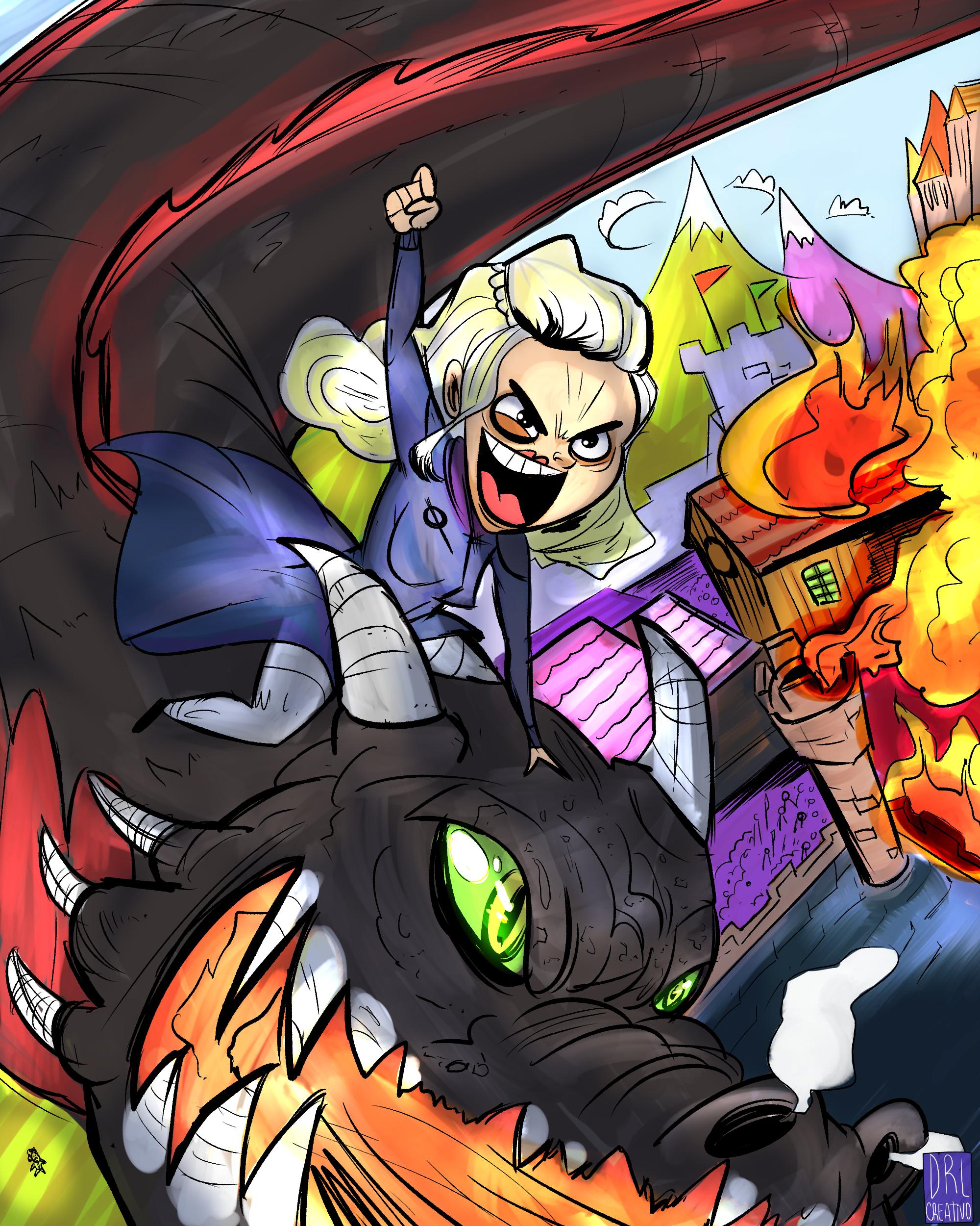 Burning kingdoms FAN ART!