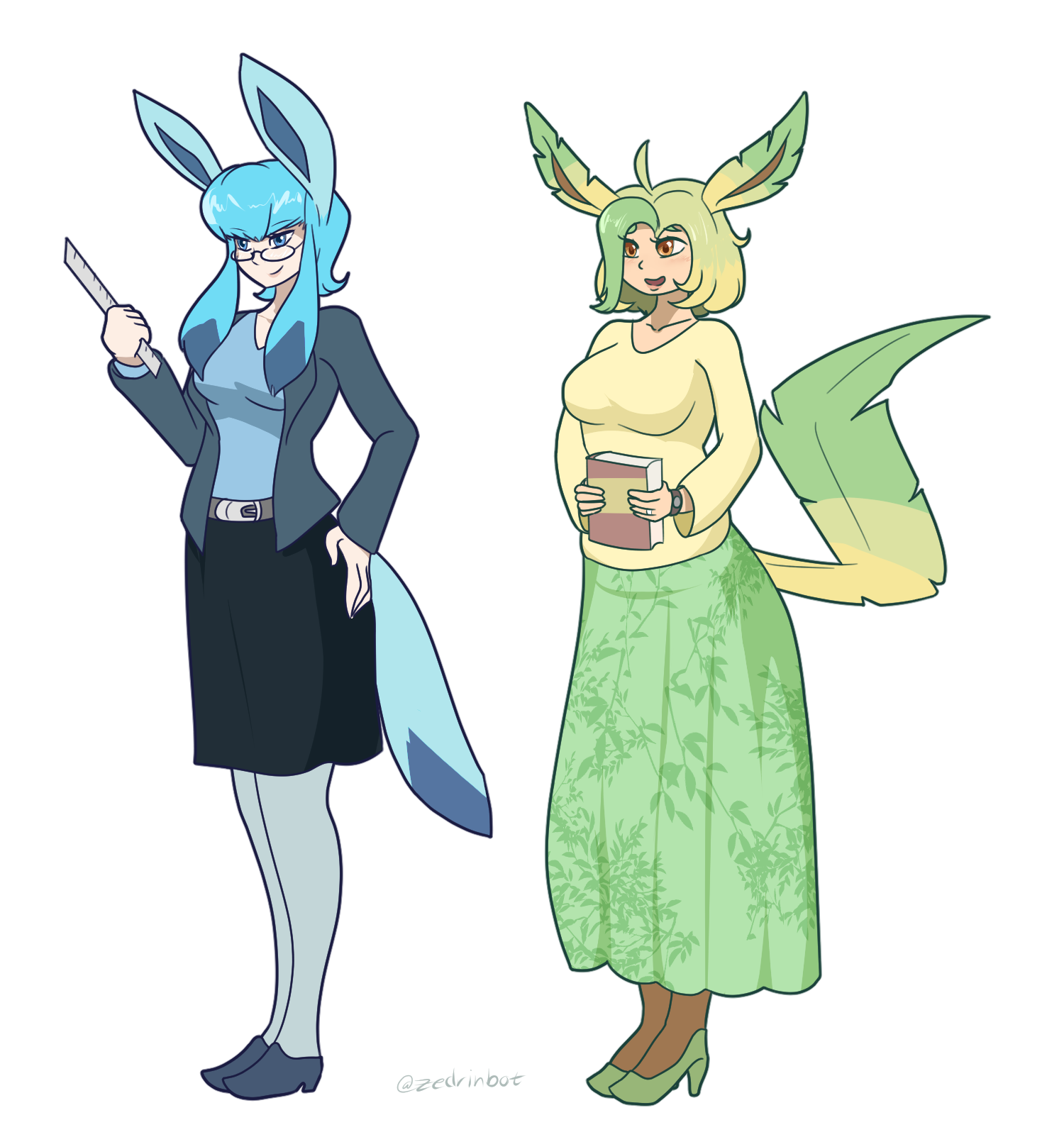 Glaceon and Leafeon Gjinkas