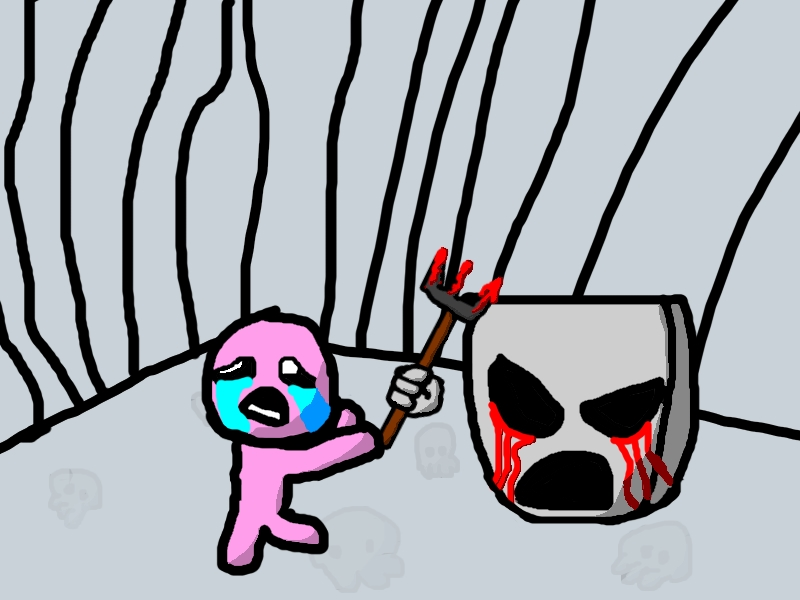 Isaac getting attacked by Mask Of Infamy